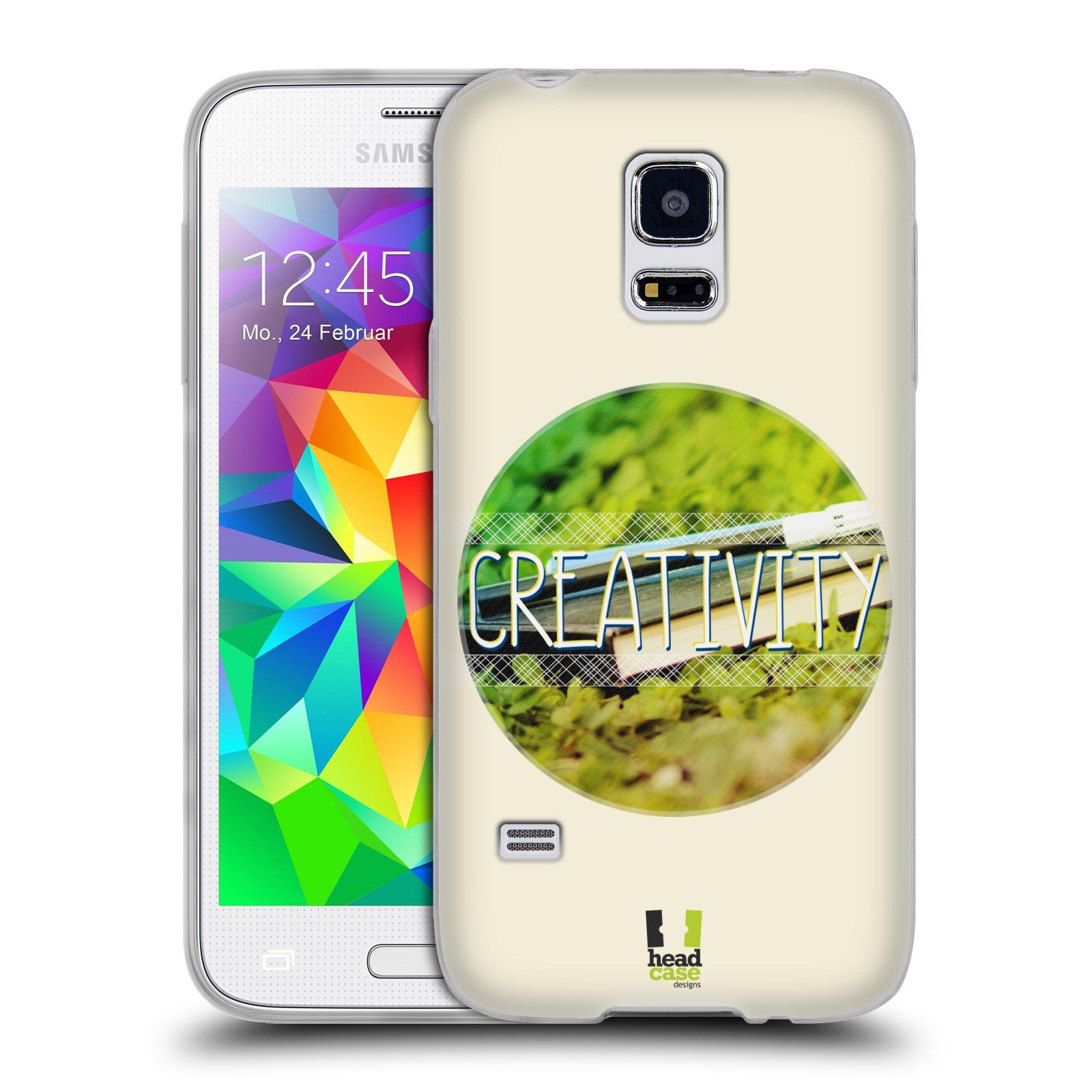 Silikonové pouzdro na mobil Samsung Galaxy S5 Mini HEAD CASE INSPIRACE V KRUHU KREATIVITA (Silikonový kryt či obal na mobilní telefon Samsung Galaxy S5 Mini SM-G800F)
