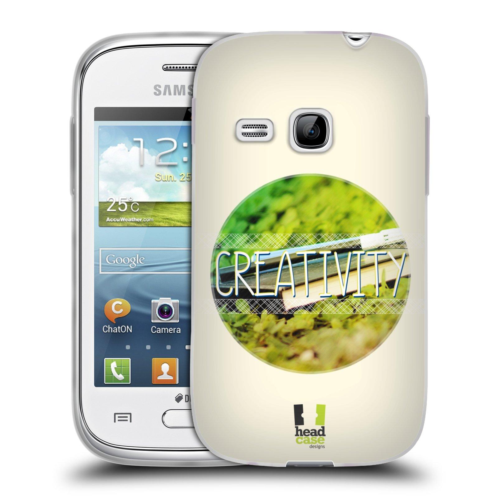 Silikonové pouzdro na mobil Samsung Galaxy Young HEAD CASE INSPIRACE V KRUHU KREATIVITA (Silikonový kryt či obal na mobilní telefon Samsung Galaxy Young GT-S6310)