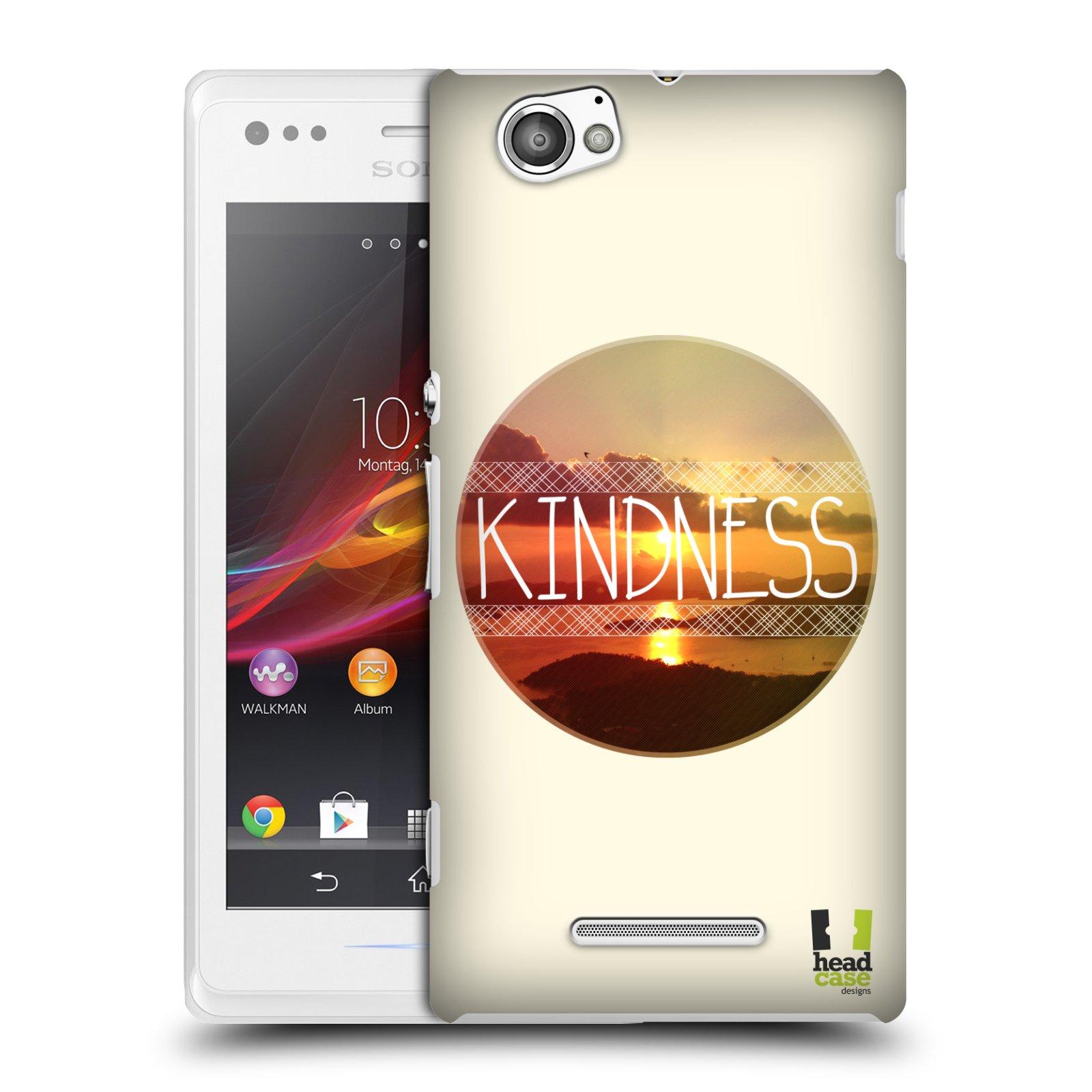 Plastové pouzdro na mobil Sony Xperia M C1905 HEAD CASE INSPIRACE V KRUHU LASKAVOST (Kryt či obal na mobilní telefon Sony Xperia M a M Dual)