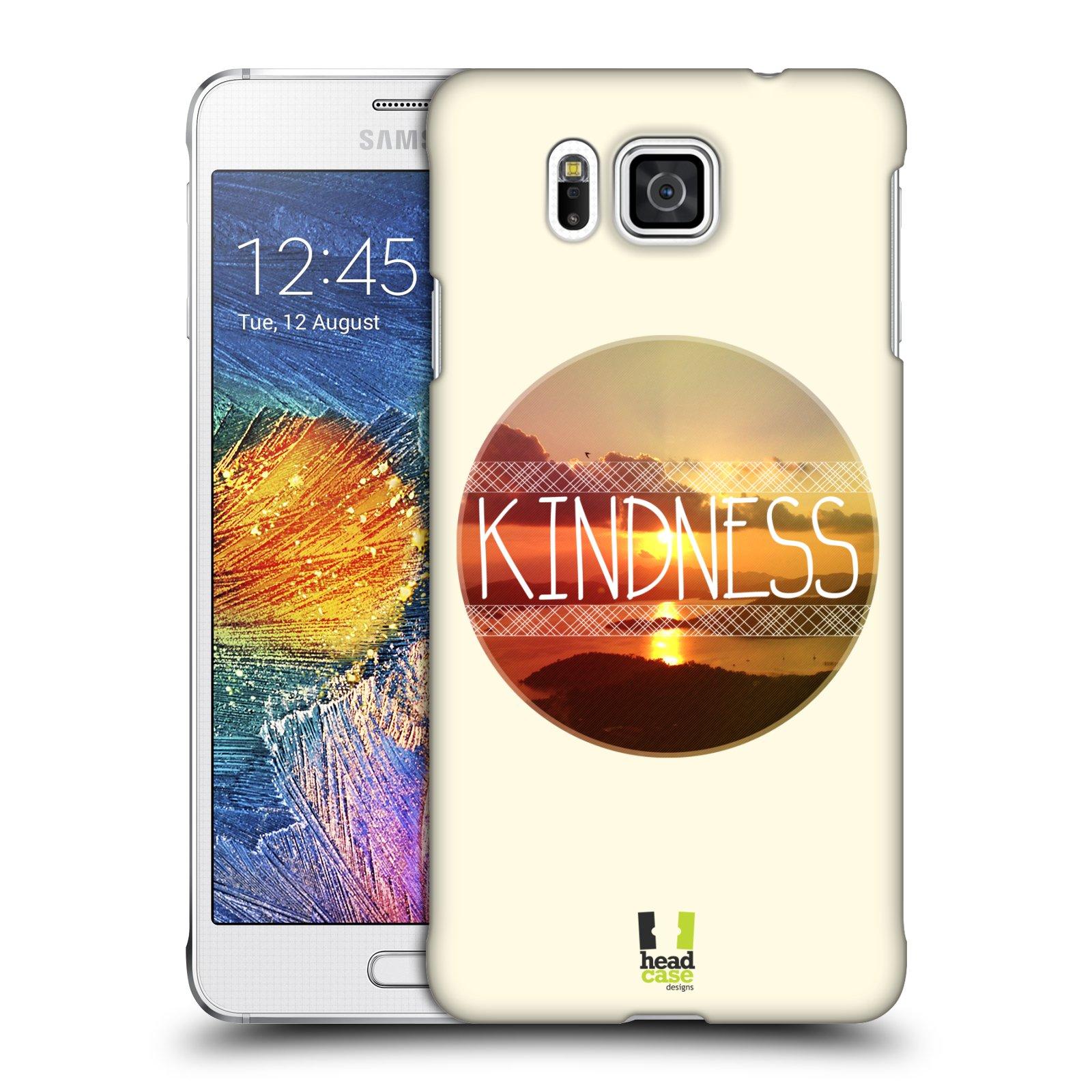 Plastové pouzdro na mobil Samsung Galaxy Alpha HEAD CASE INSPIRACE V KRUHU LASKAVOST (Kryt či obal na mobilní telefon Samsung Galaxy Alpha SM-G850)