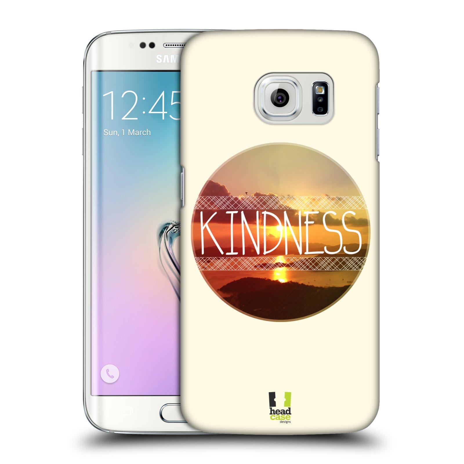 Plastové pouzdro na mobil Samsung Galaxy S6 Edge HEAD CASE INSPIRACE V KRUHU LASKAVOST (Kryt či obal na mobilní telefon Samsung Galaxy S6 Edge SM-G925F)