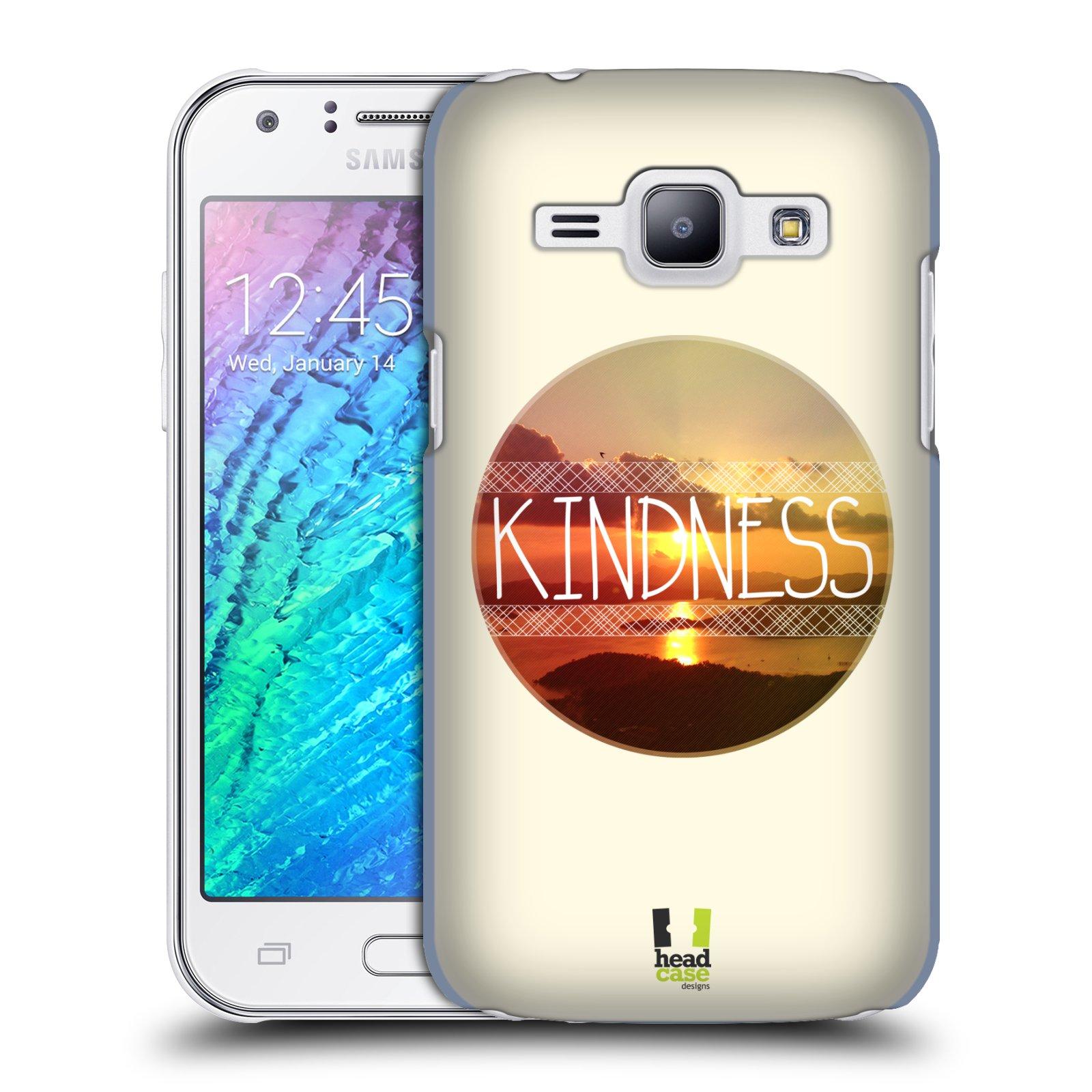 Plastové pouzdro na mobil Samsung Galaxy J1 HEAD CASE INSPIRACE V KRUHU LASKAVOST (Kryt či obal na mobilní telefon Samsung Galaxy J1 a J1 Duos )