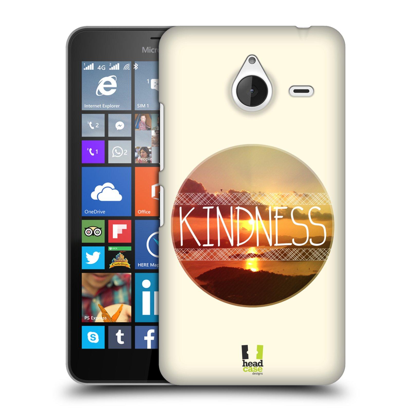 Plastové pouzdro na mobil Microsoft Lumia 640 XL HEAD CASE INSPIRACE V KRUHU LASKAVOST (Kryt či obal na mobilní telefon Microsoft Lumia 640 XL)