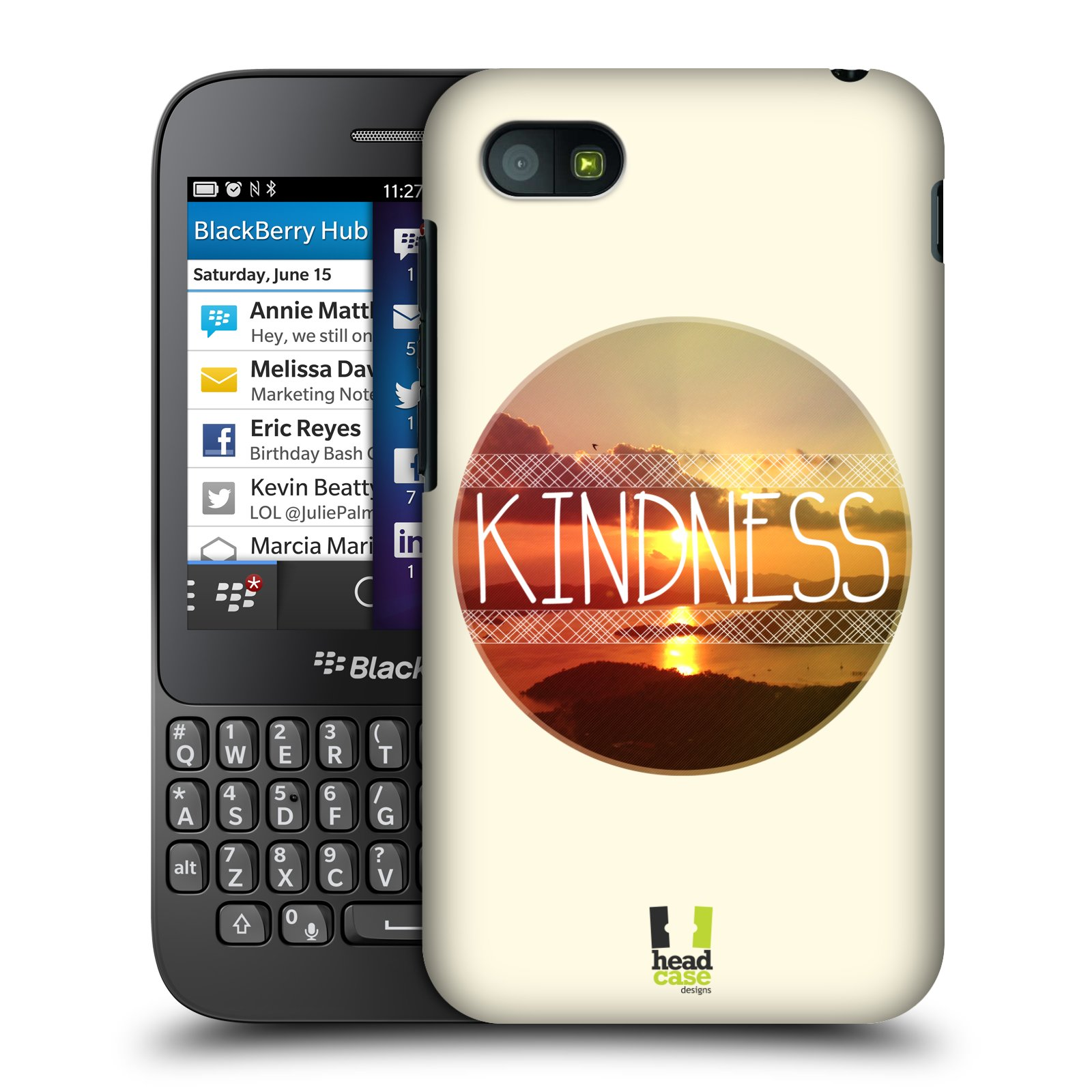 Plastové pouzdro na mobil Blackberry Q5 HEAD CASE INSPIRACE V KRUHU LASKAVOST (Kryt či obal na mobilní telefon Blackberry Q5)