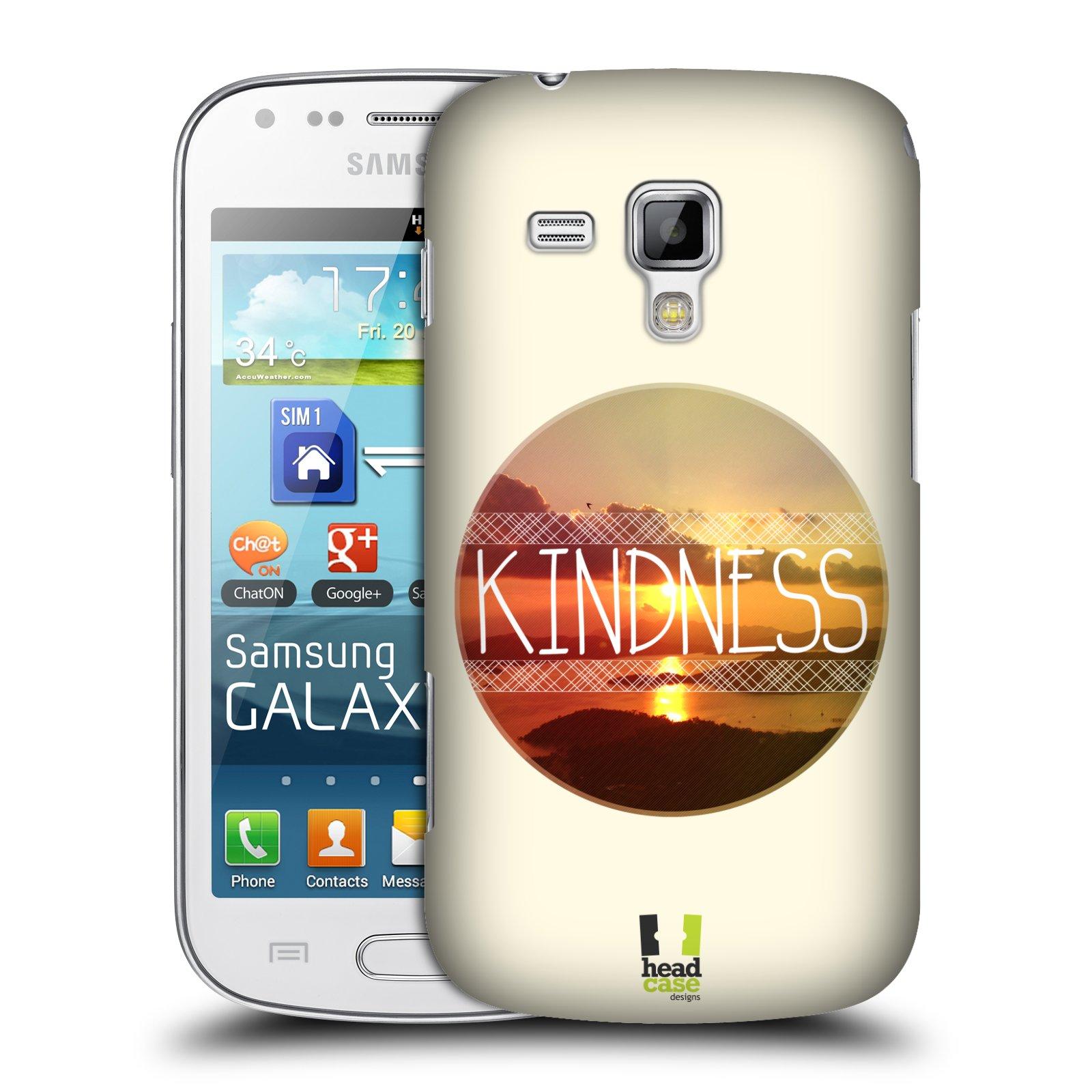 Plastové pouzdro na mobil Samsung Galaxy Trend Plus HEAD CASE INSPIRACE V KRUHU LASKAVOST (Kryt či obal na mobilní telefon Samsung Galaxy Trend Plus GT-S7580)