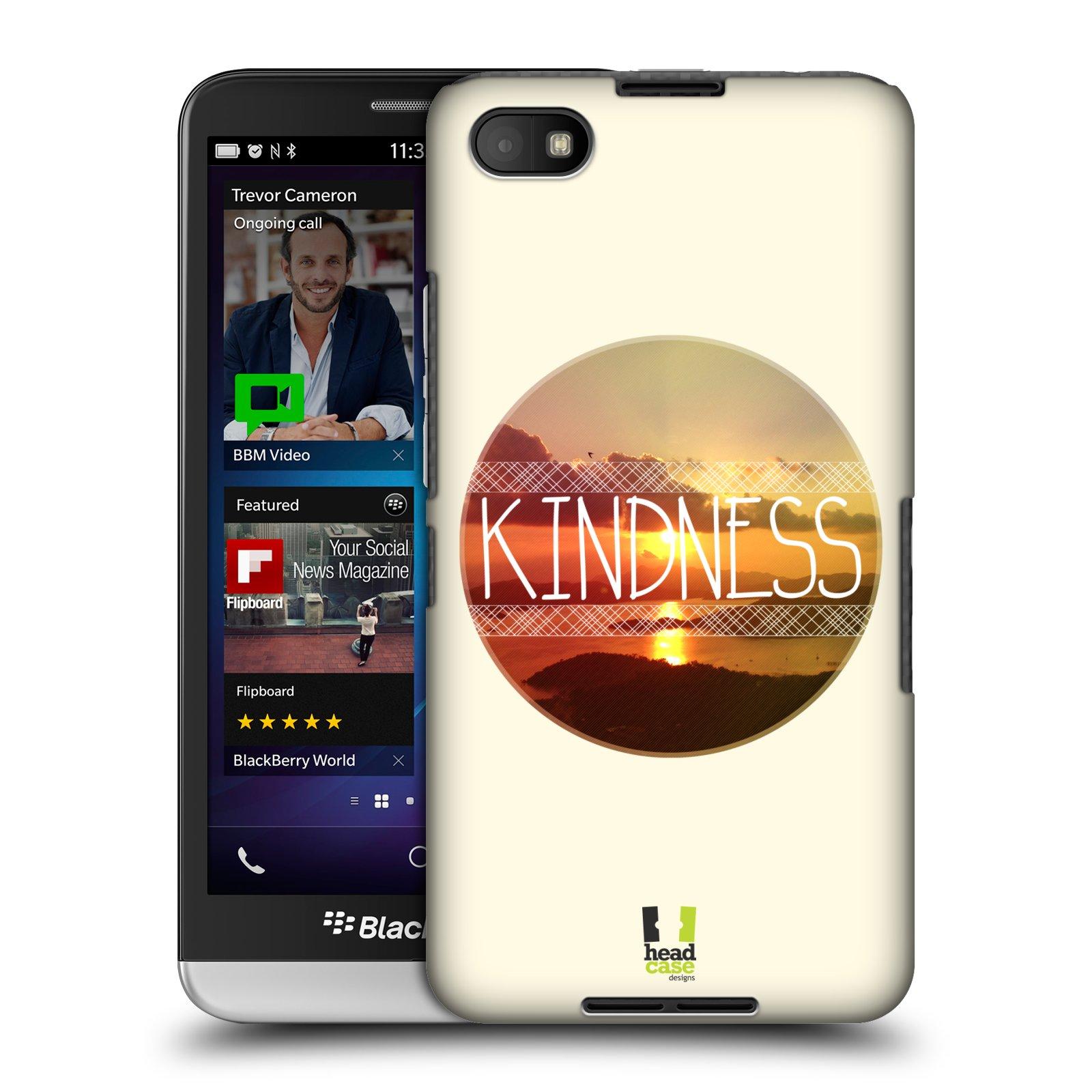 Plastové pouzdro na mobil Blackberry Z30 HEAD CASE INSPIRACE V KRUHU LASKAVOST (Kryt či obal na mobilní telefon Blackberry Z30)