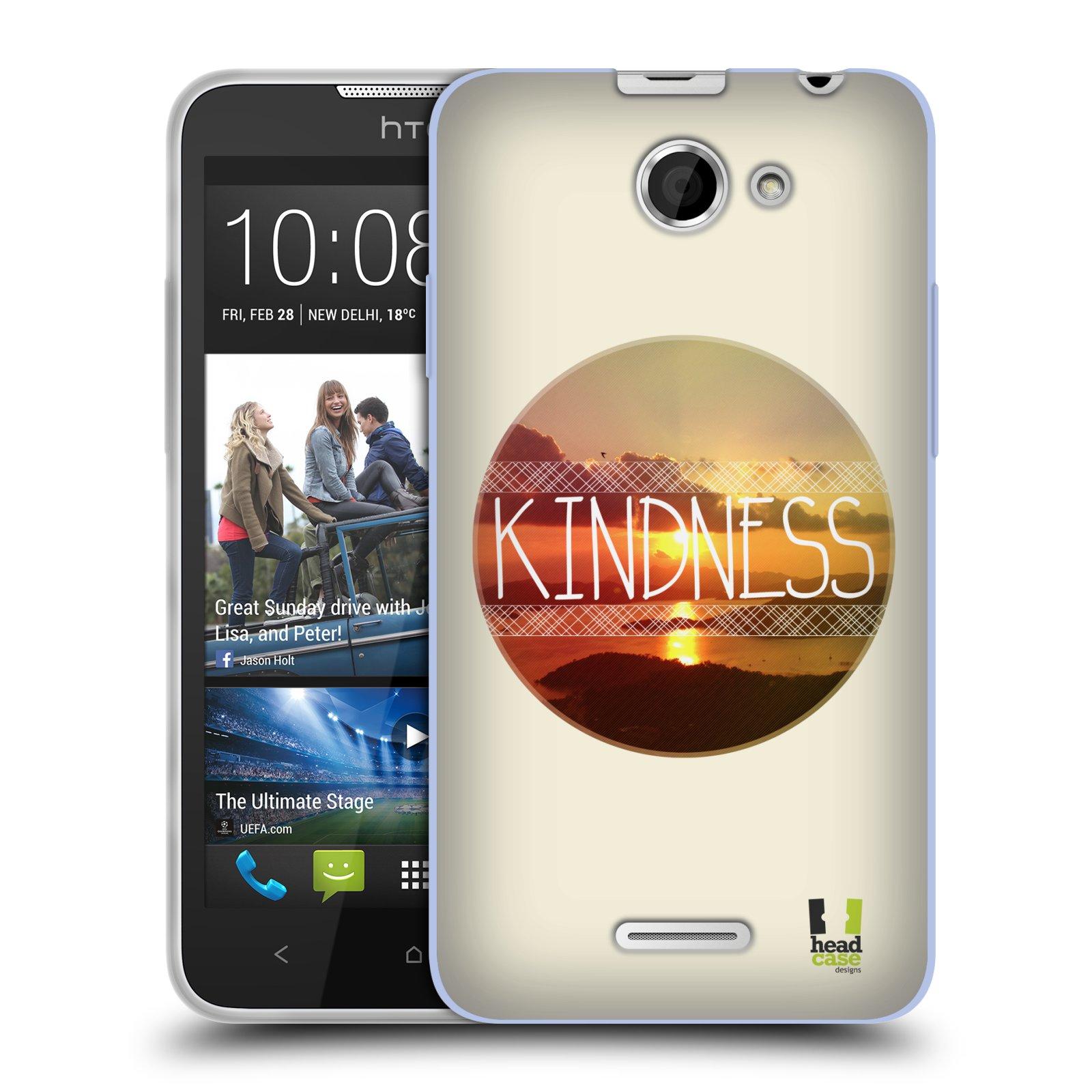 Silikonové pouzdro na mobil HTC Desire 516 HEAD CASE INSPIRACE V KRUHU LASKAVOST (Silikonový kryt či obal na mobilní telefon HTC Desire 516 Dual SIM)