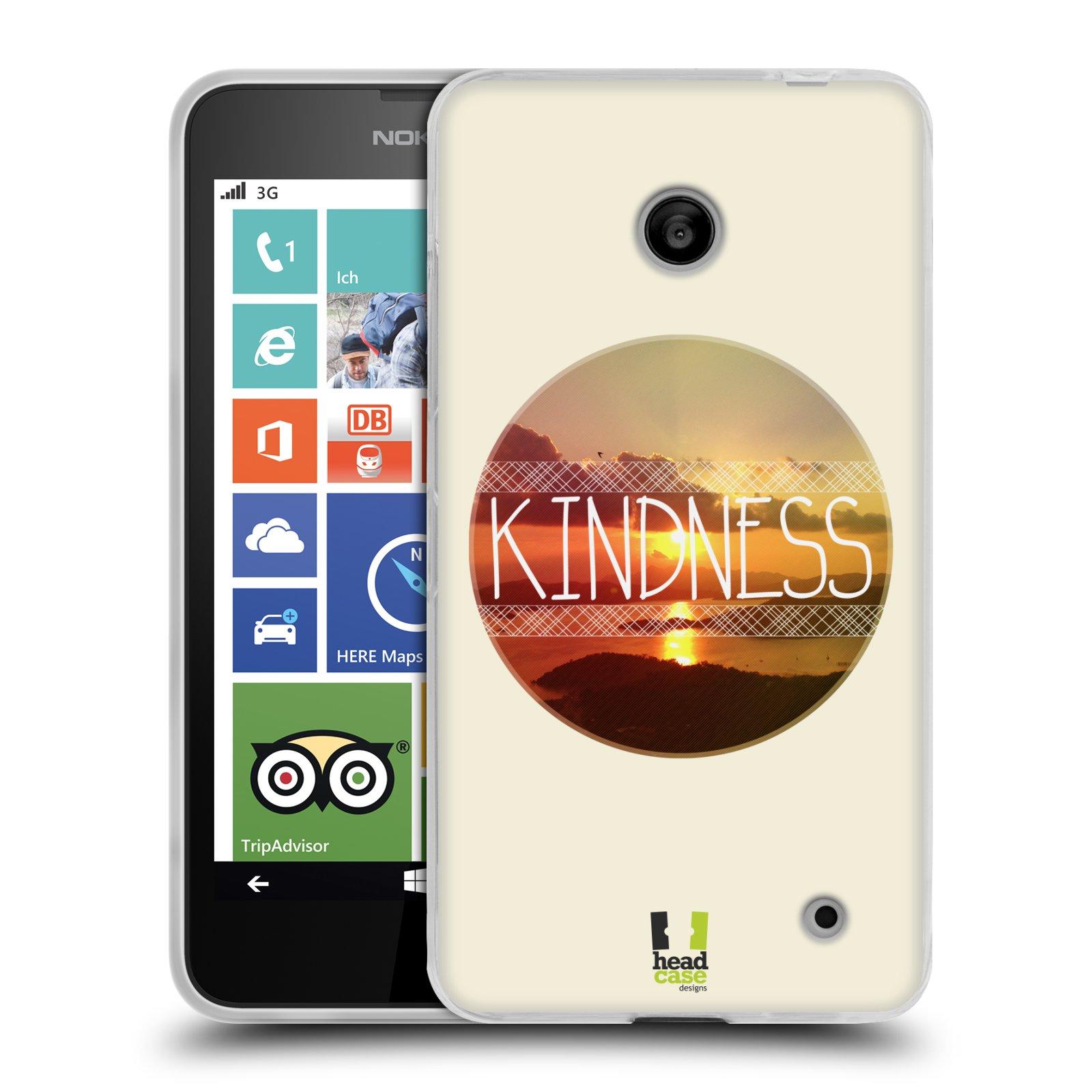 Silikonové pouzdro na mobil Nokia Lumia 635 HEAD CASE INSPIRACE V KRUHU LASKAVOST (Silikonový kryt či obal na mobilní telefon Nokia Lumia 635 Dual SIM)