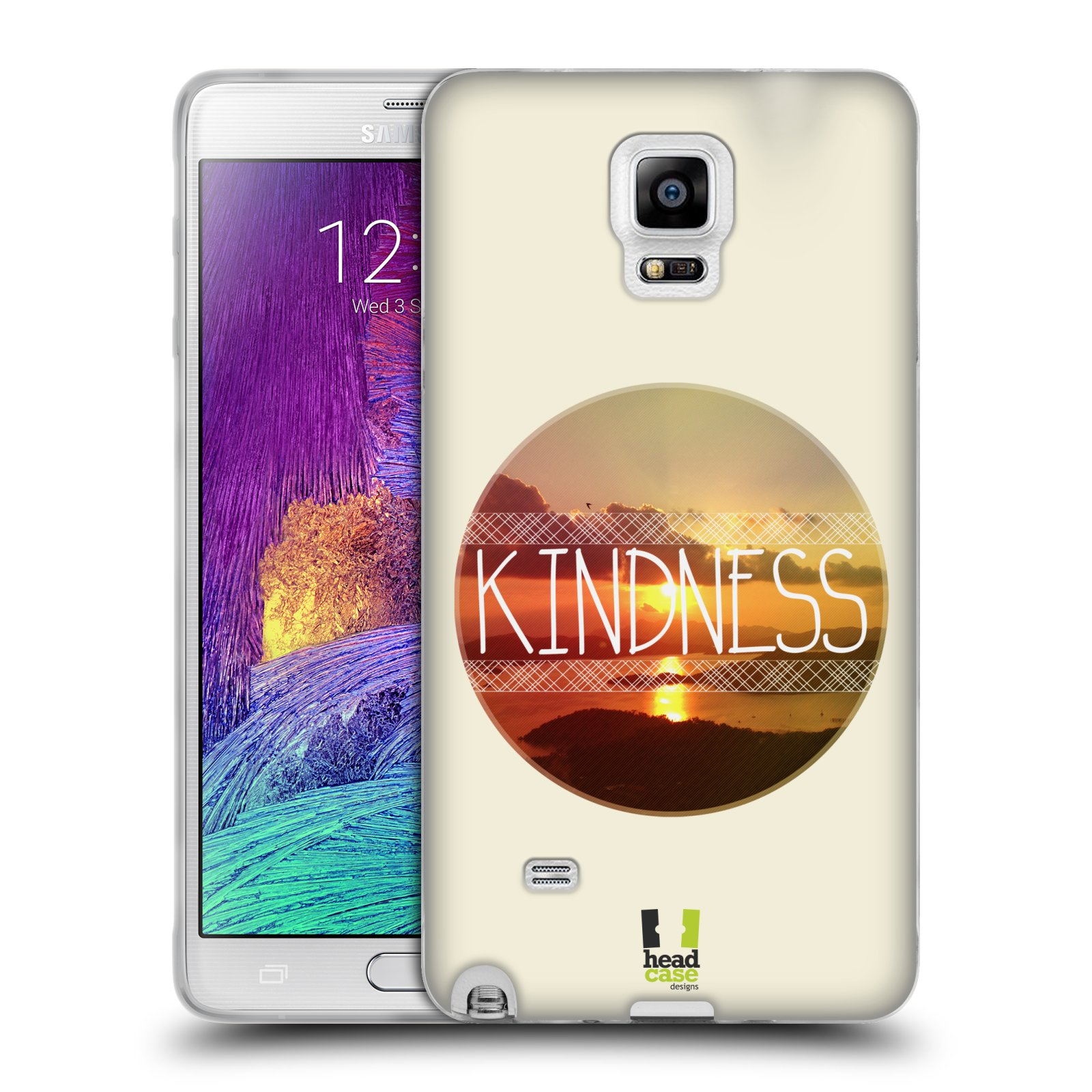 Silikonové pouzdro na mobil Samsung Galaxy Note 4 HEAD CASE INSPIRACE V KRUHU LASKAVOST (Silikonový kryt či obal na mobilní telefon Samsung Galaxy Note 4 SM-N910F)