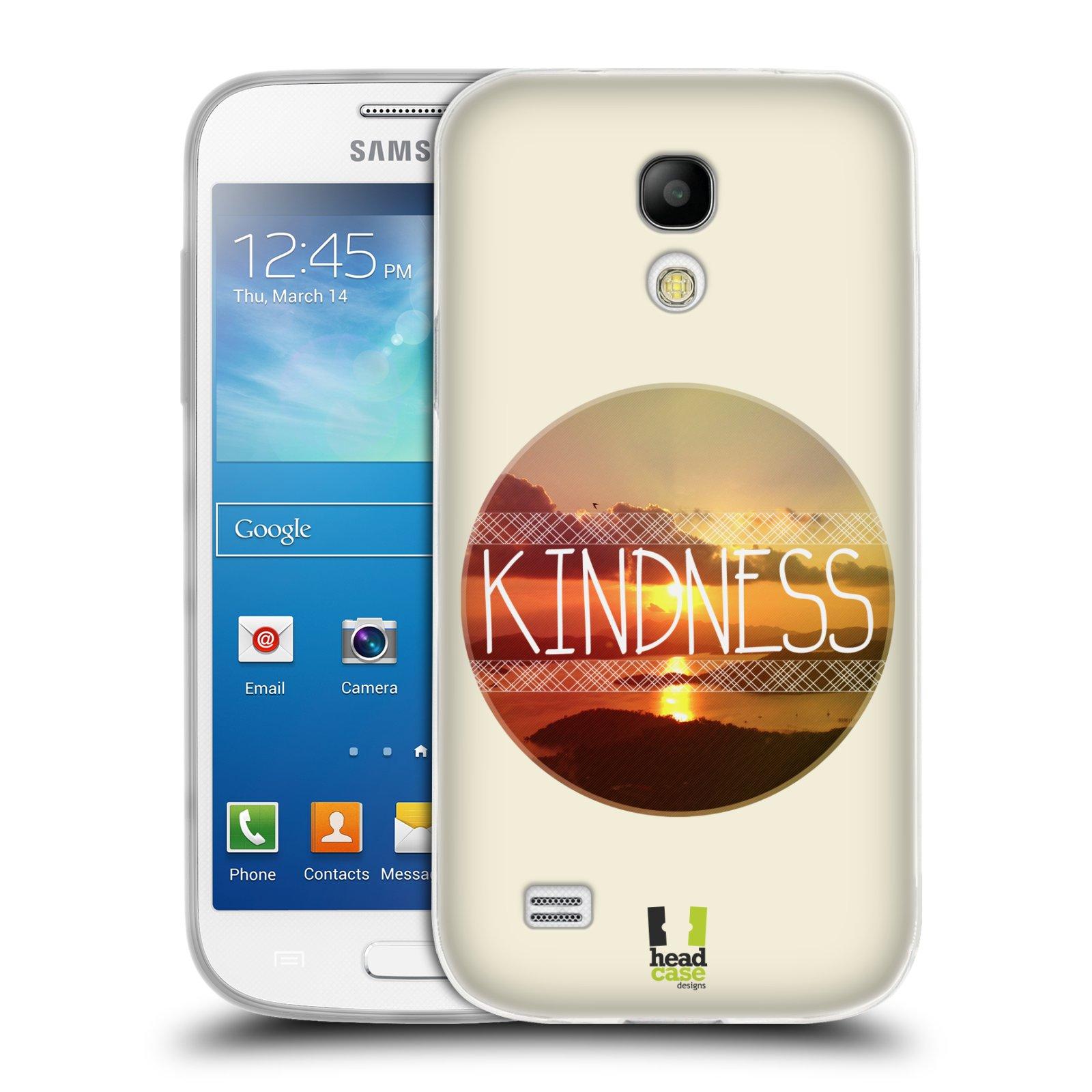 Silikonové pouzdro na mobil Samsung Galaxy S4 Mini HEAD CASE INSPIRACE V KRUHU LASKAVOST (Silikonový kryt či obal na mobilní telefon Samsung Galaxy S4 Mini GT-i9195 / i9190 (nepasuje na verzi Black Edition))