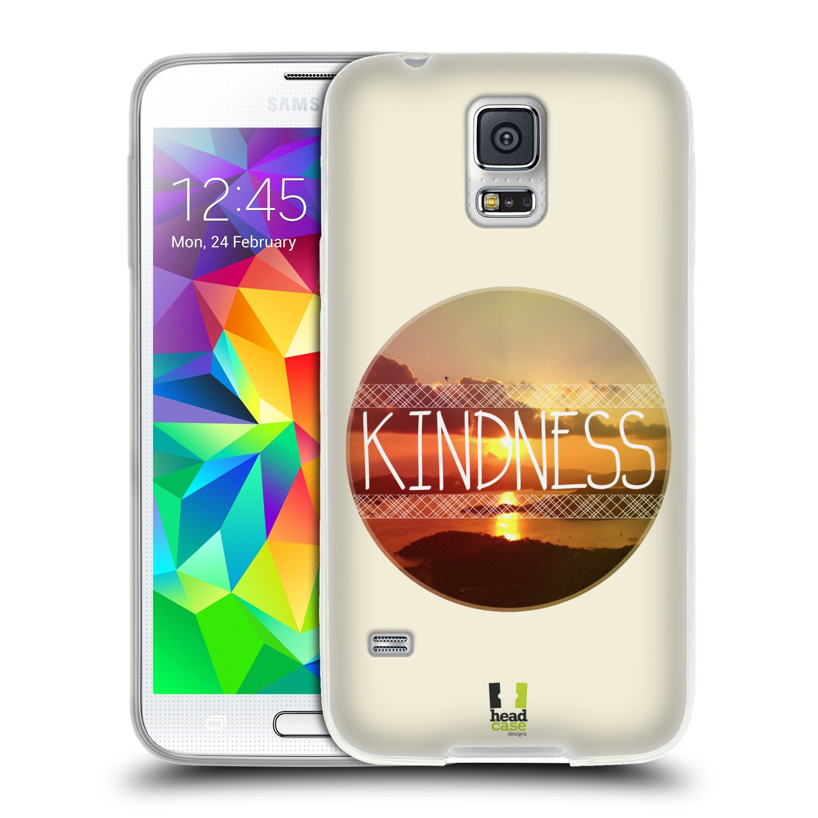 Silikonové pouzdro na mobil Samsung Galaxy S5 HEAD CASE INSPIRACE V KRUHU LASKAVOST (Silikonový kryt či obal na mobilní telefon Samsung Galaxy S5 SM-G900F)