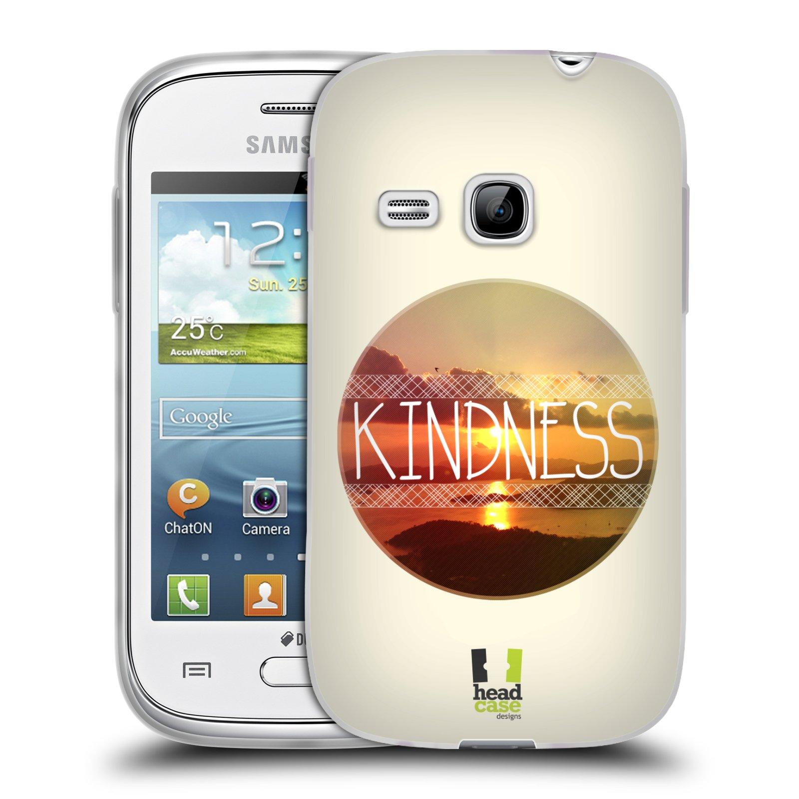 Silikonové pouzdro na mobil Samsung Galaxy Young HEAD CASE INSPIRACE V KRUHU LASKAVOST (Silikonový kryt či obal na mobilní telefon Samsung Galaxy Young GT-S6310)