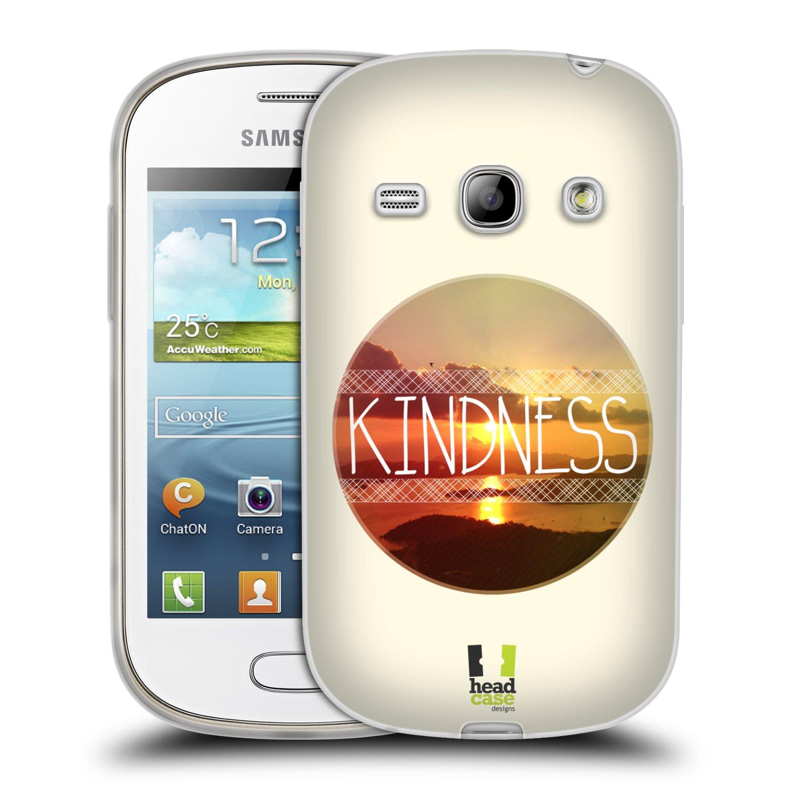 Silikonové pouzdro na mobil Samsung Galaxy Fame HEAD CASE INSPIRACE V KRUHU LASKAVOST (Silikonový kryt či obal na mobilní telefon Samsung Galaxy Fame GT-S6810)