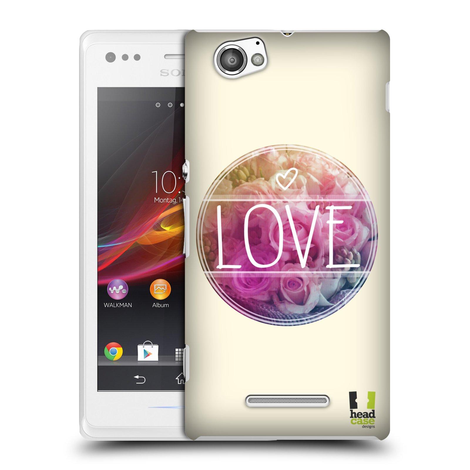 Plastové pouzdro na mobil Sony Xperia M C1905 HEAD CASE INSPIRACE V KRUHU LÁSKA (Kryt či obal na mobilní telefon Sony Xperia M a M Dual)