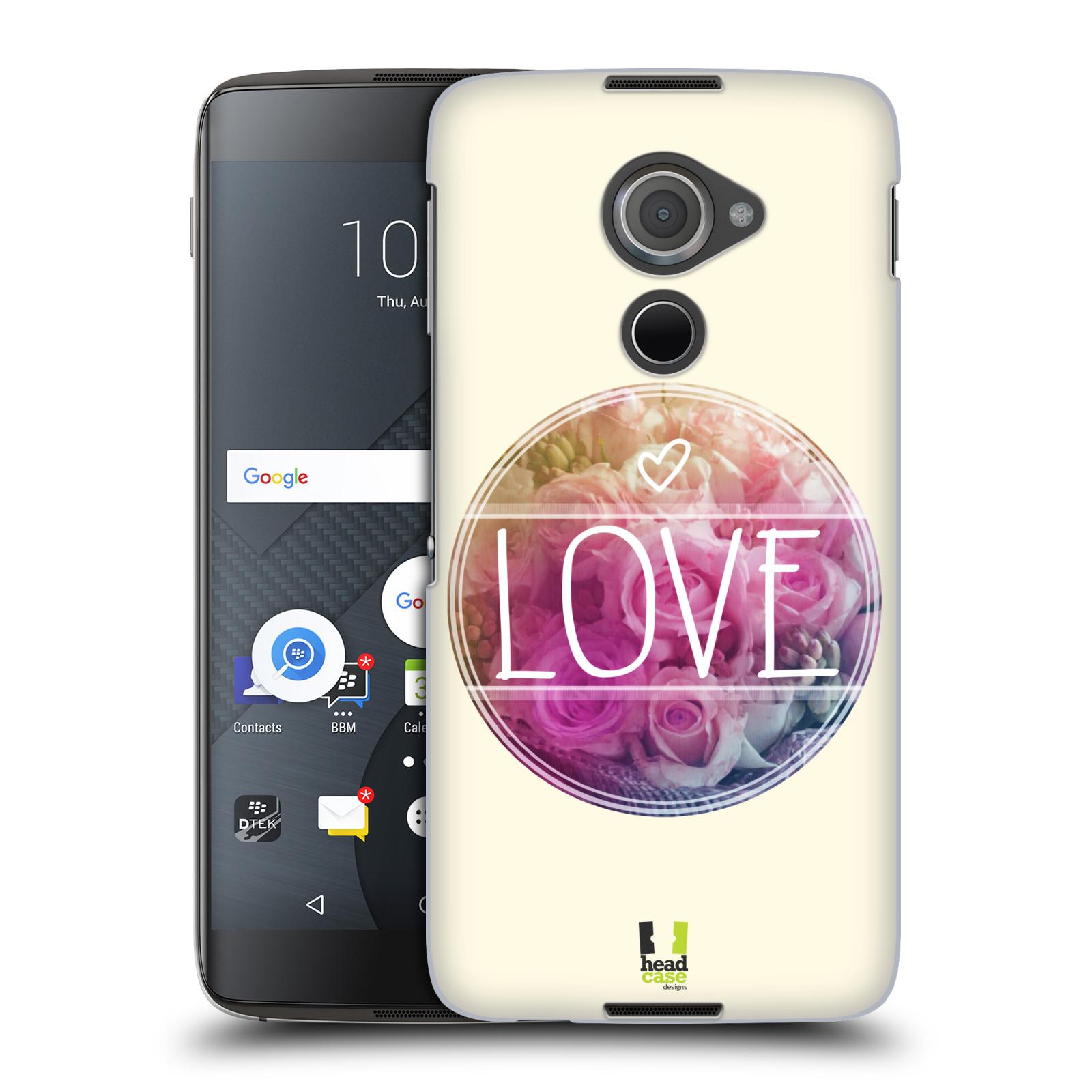 Plastové pouzdro na mobil Blackberry DTEK60 (Argon) - Head Case INSPIRACE V KRUHU LÁSKA (Plastový kryt či obal na mobilní telefon Blackberry DTEK60 (Argon))