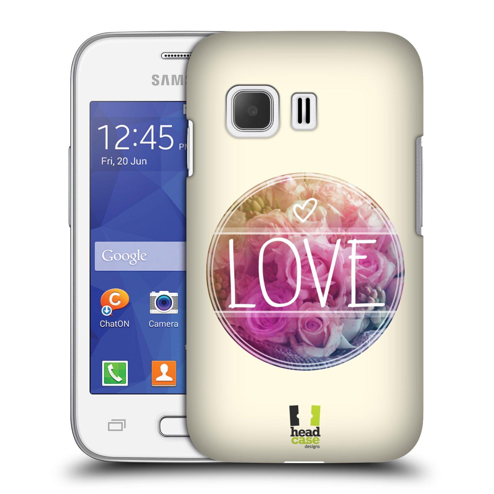 Plastové pouzdro na mobil Samsung Galaxy Young 2 HEAD CASE INSPIRACE V KRUHU LÁSKA (Kryt či obal na mobilní telefon Samsung Galaxy Young 2 SM-G130)