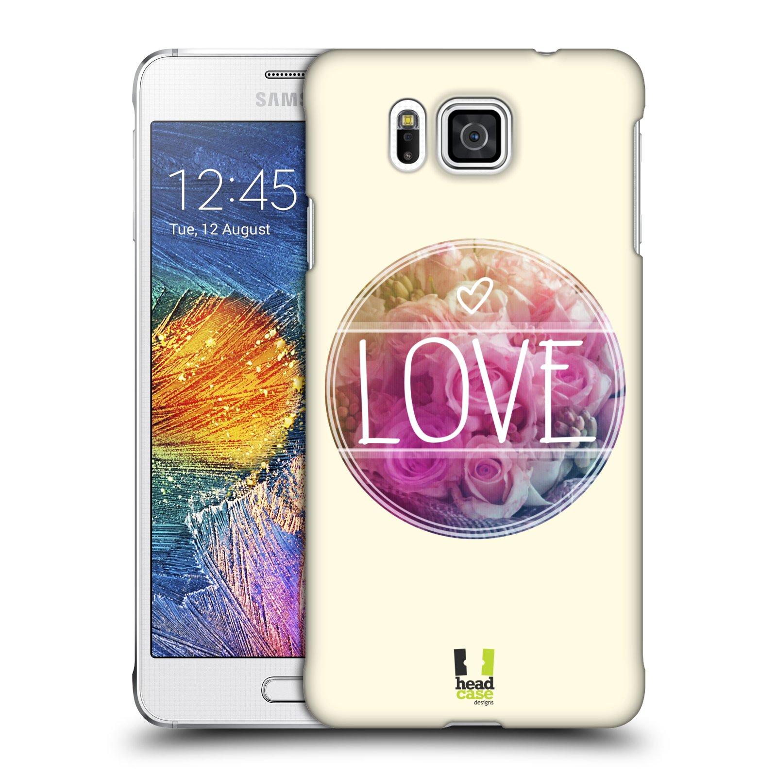 Plastové pouzdro na mobil Samsung Galaxy Alpha HEAD CASE INSPIRACE V KRUHU LÁSKA (Kryt či obal na mobilní telefon Samsung Galaxy Alpha SM-G850)