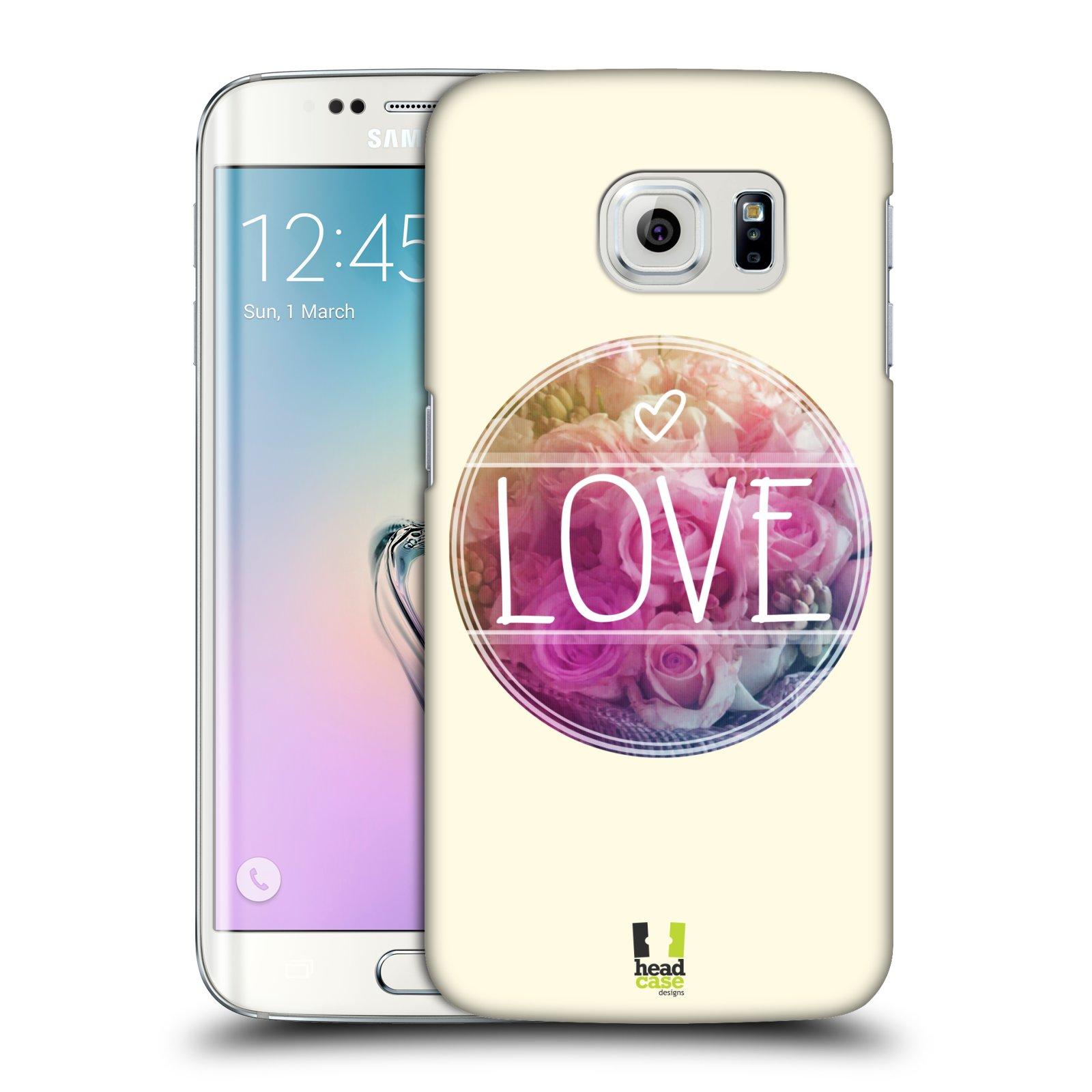 Plastové pouzdro na mobil Samsung Galaxy S6 Edge HEAD CASE INSPIRACE V KRUHU LÁSKA (Kryt či obal na mobilní telefon Samsung Galaxy S6 Edge SM-G925F)