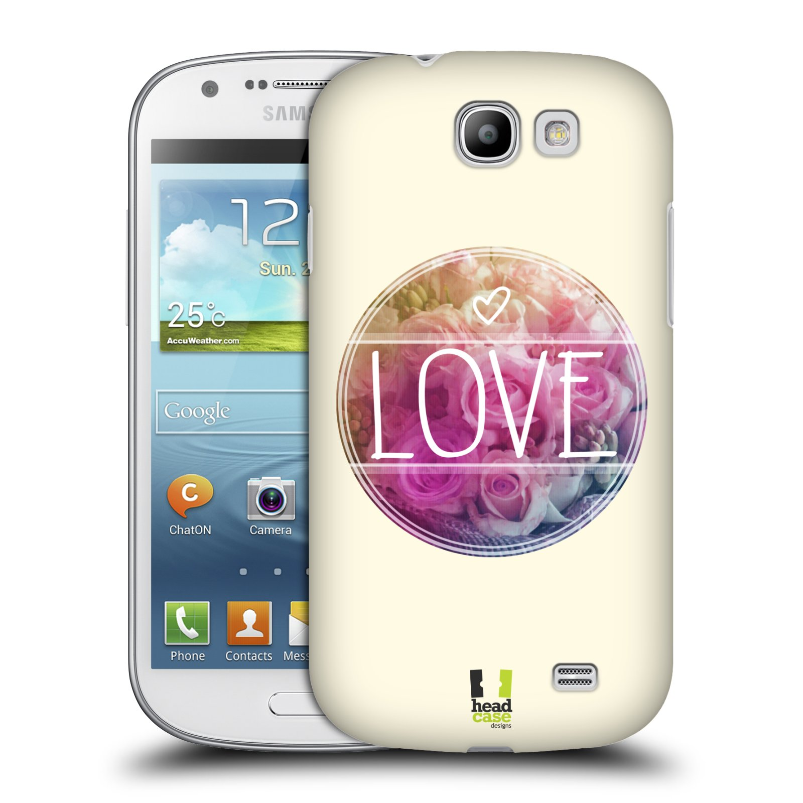 Plastové pouzdro na mobil Samsung Galaxy Express HEAD CASE INSPIRACE V KRUHU LÁSKA (Kryt či obal na mobilní telefon Samsung Galaxy Express GT-i8730)
