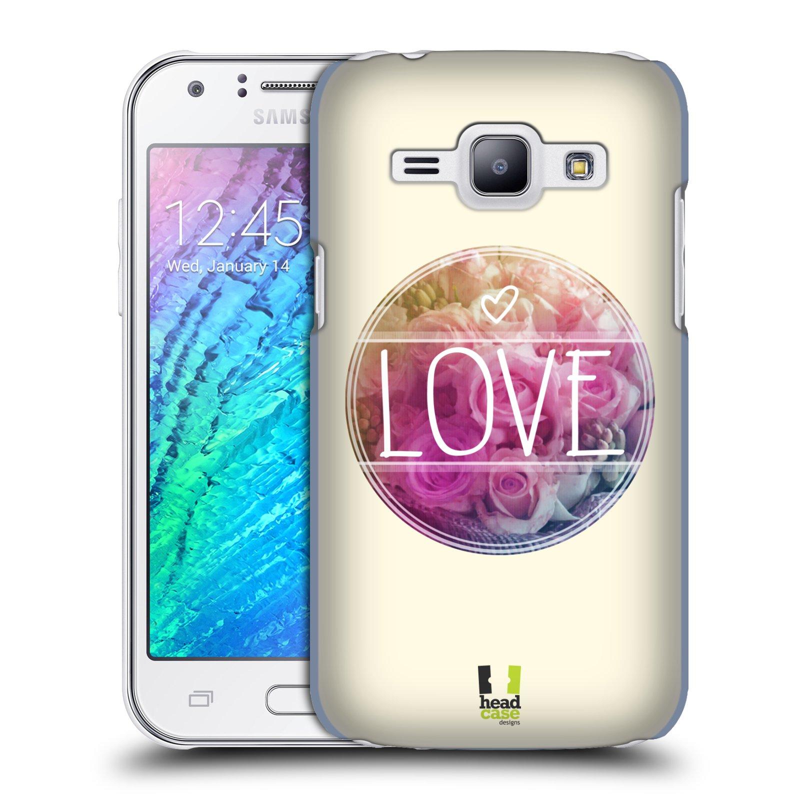 Plastové pouzdro na mobil Samsung Galaxy J1 HEAD CASE INSPIRACE V KRUHU LÁSKA (Kryt či obal na mobilní telefon Samsung Galaxy J1 a J1 Duos )