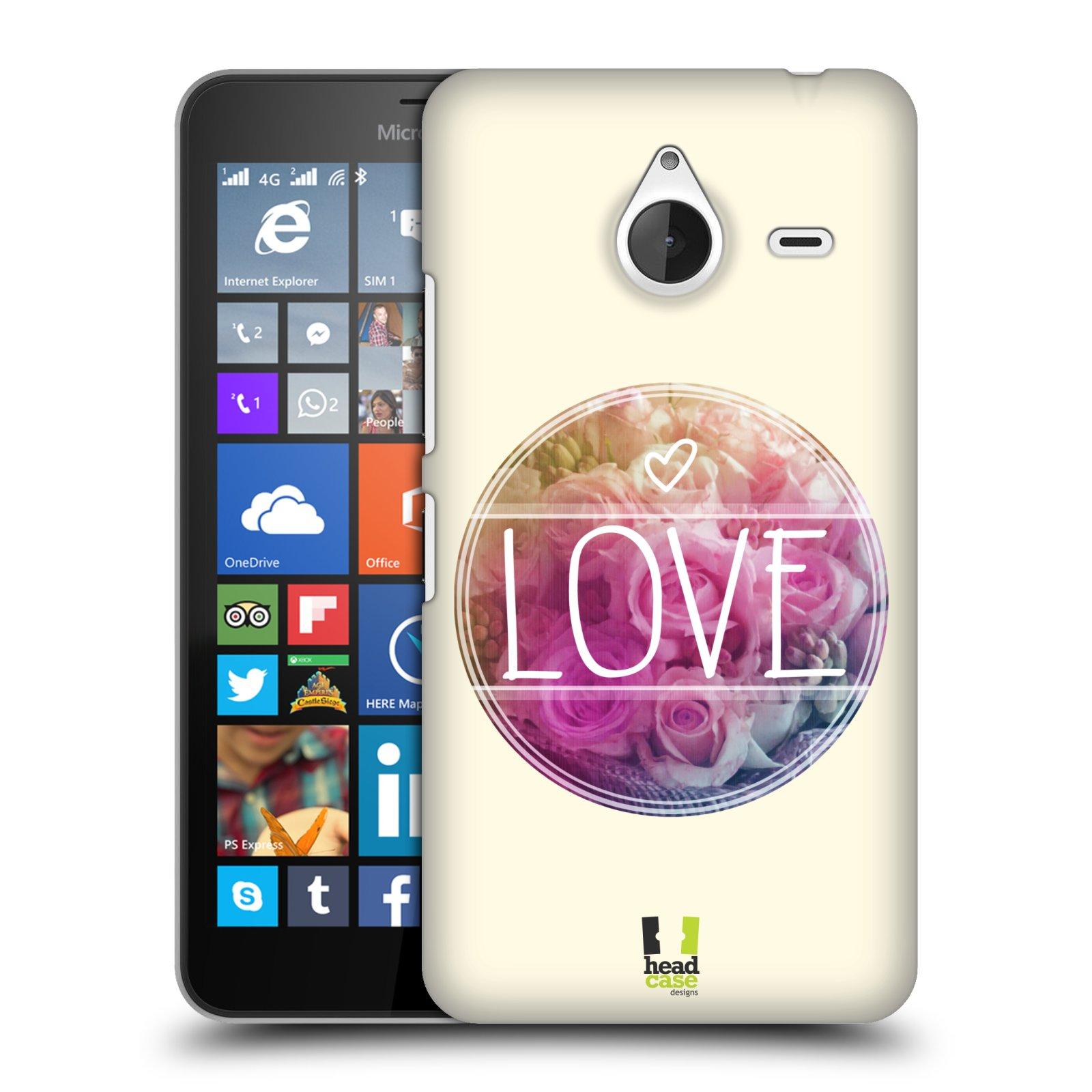 Plastové pouzdro na mobil Microsoft Lumia 640 XL HEAD CASE INSPIRACE V KRUHU LÁSKA (Kryt či obal na mobilní telefon Microsoft Lumia 640 XL)