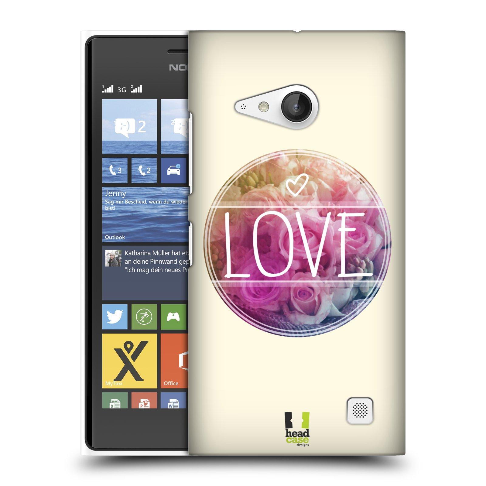 Plastové pouzdro na mobil Nokia Lumia 730 Dual SIM HEAD CASE INSPIRACE V KRUHU LÁSKA (Kryt či obal na mobilní telefon Nokia Lumia 730 Dual SIM)