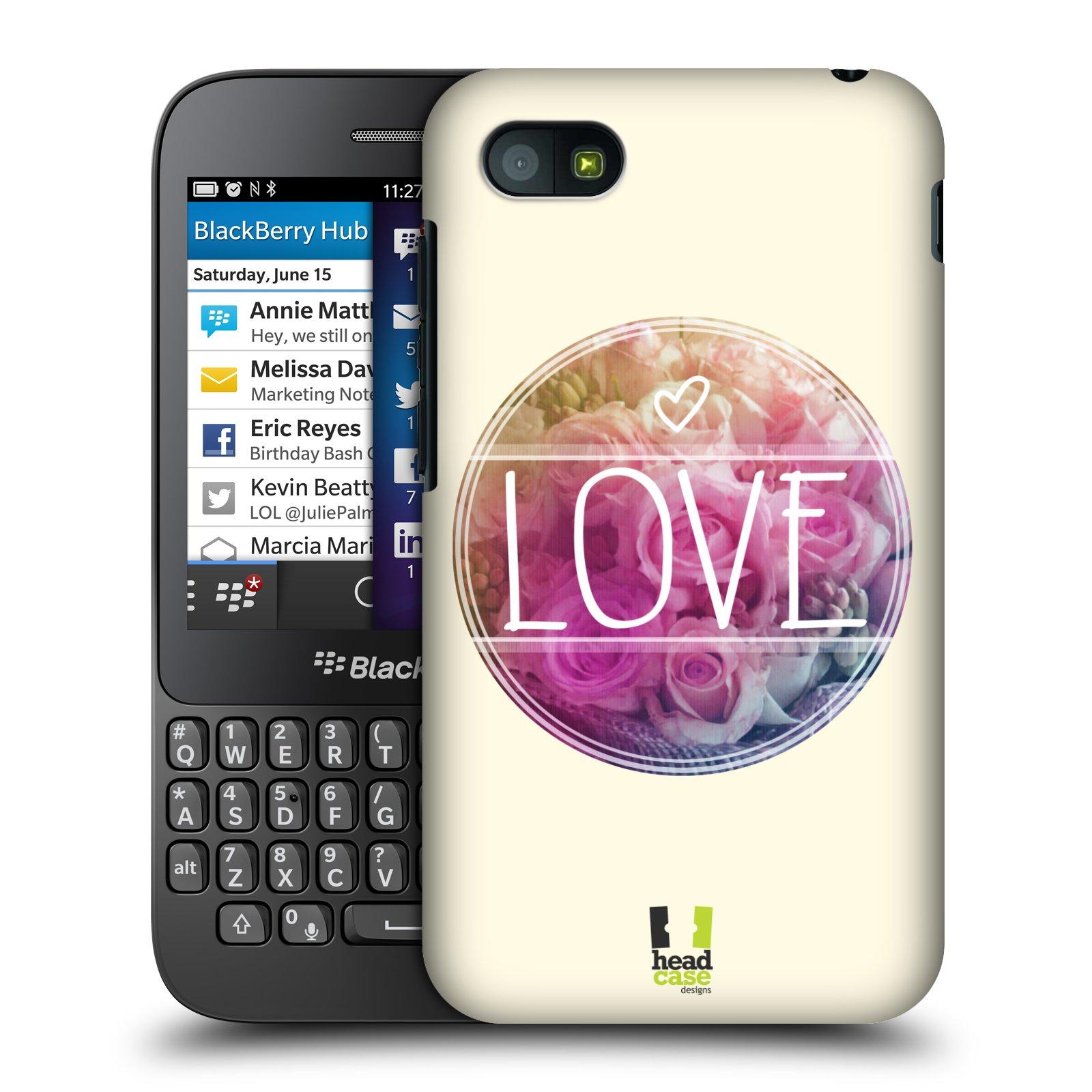 Plastové pouzdro na mobil Blackberry Q5 HEAD CASE INSPIRACE V KRUHU LÁSKA (Kryt či obal na mobilní telefon Blackberry Q5)