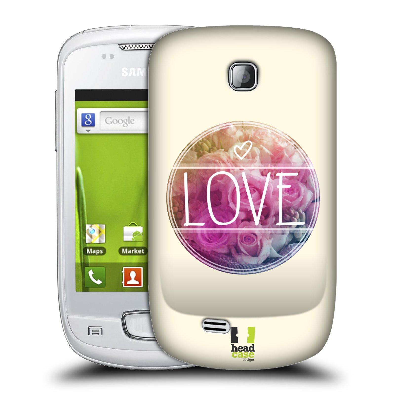 Plastové pouzdro na mobil Samsung Galaxy Mini HEAD CASE INSPIRACE V KRUHU LÁSKA (Kryt či obal na mobilní telefon Samsung Galaxy Mini GT-S5570 / GT-S5570i)