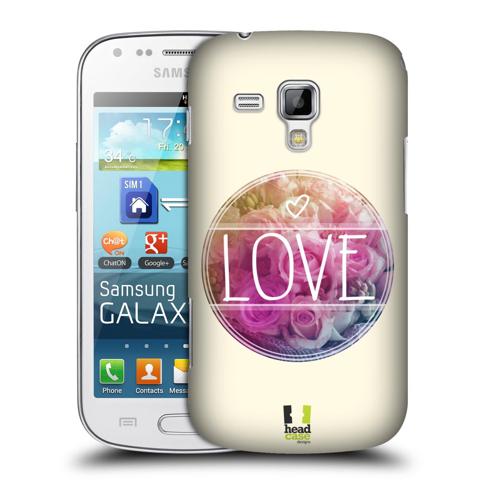 Plastové pouzdro na mobil Samsung Galaxy S Duos HEAD CASE INSPIRACE V KRUHU LÁSKA (Kryt či obal na mobilní telefon Samsung Galaxy S Duos GT-S7562)