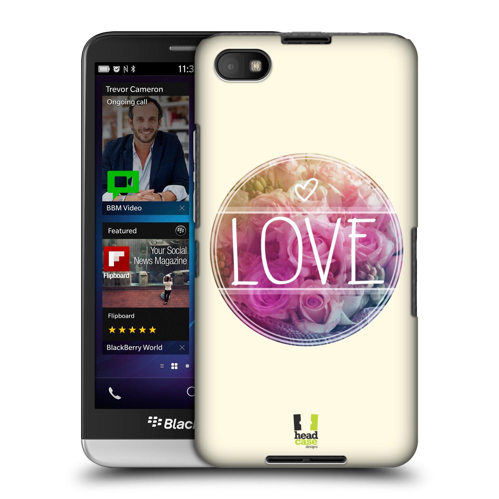 Plastové pouzdro na mobil Blackberry Z30 HEAD CASE INSPIRACE V KRUHU LÁSKA (Kryt či obal na mobilní telefon Blackberry Z30)