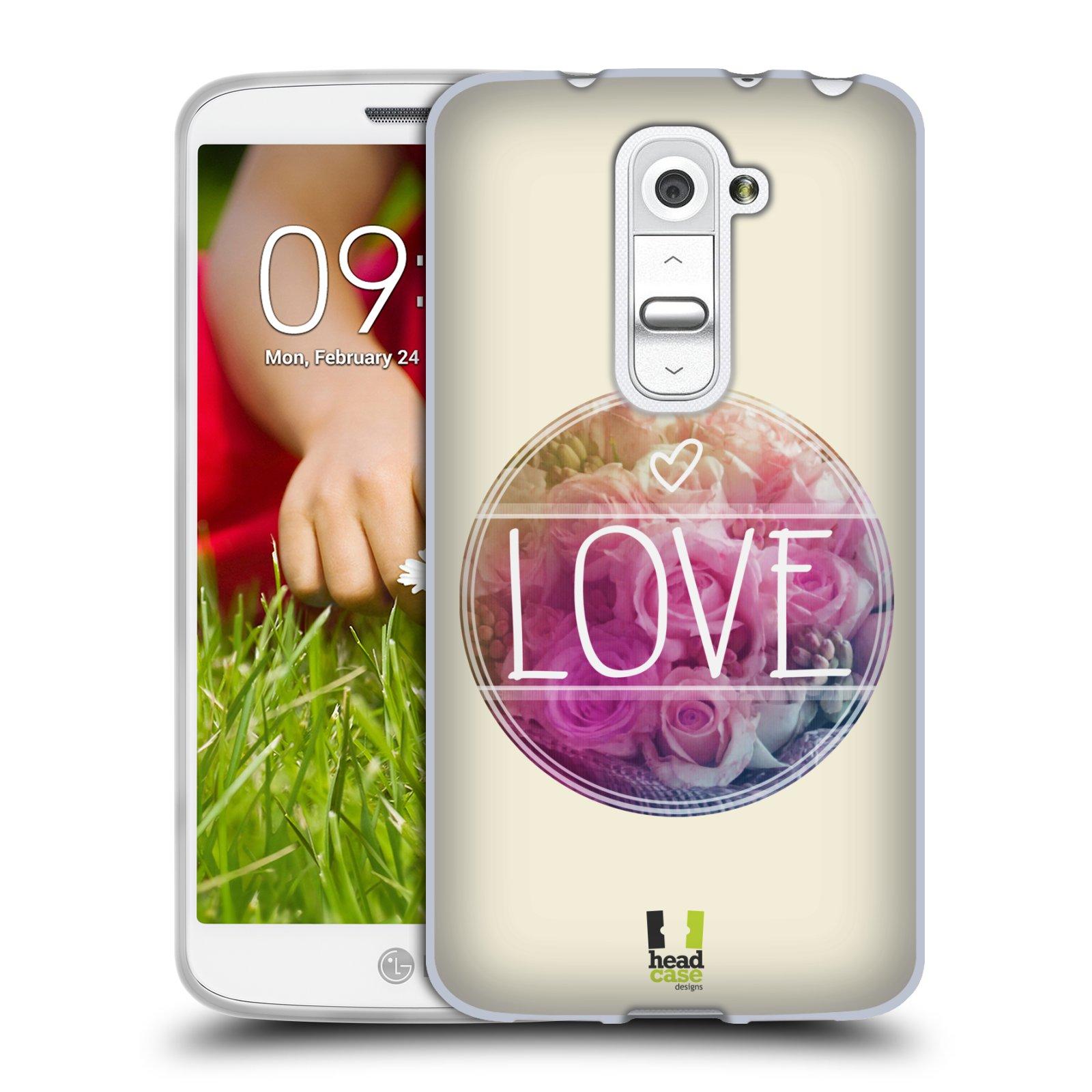 Silikonové pouzdro na mobil LG G2 Mini HEAD CASE INSPIRACE V KRUHU LÁSKA (Silikonový kryt či obal na mobilní telefon LG G2 Mini D620)