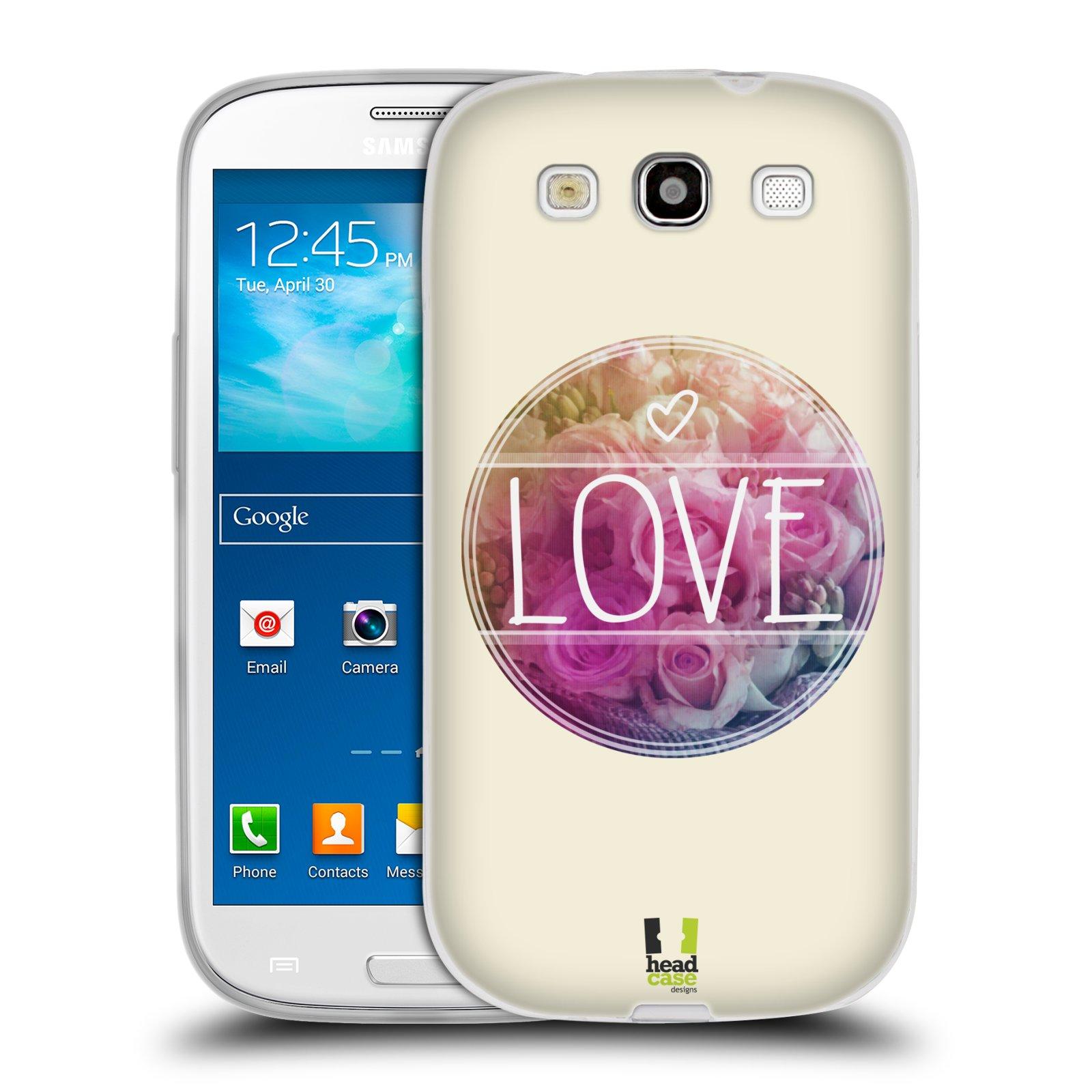 Silikonové pouzdro na mobil Samsung Galaxy S3 Neo HEAD CASE INSPIRACE V KRUHU LÁSKA (Silikonový kryt či obal na mobilní telefon Samsung Galaxy S3 Neo GT-i9301i)