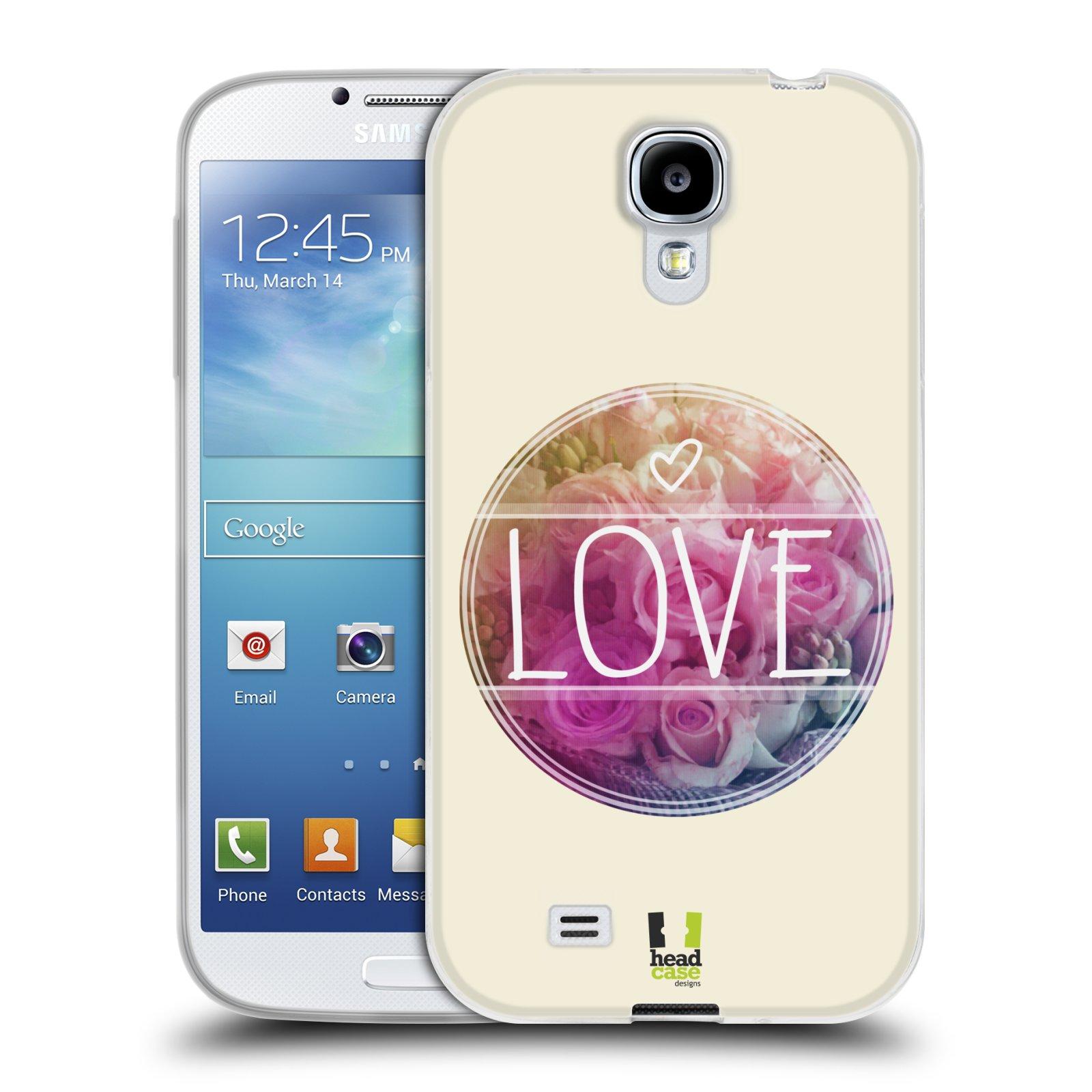 Silikonové pouzdro na mobil Samsung Galaxy S4 HEAD CASE INSPIRACE V KRUHU LÁSKA (Silikonový kryt či obal na mobilní telefon Samsung Galaxy S4 GT-i9505 / i9500)