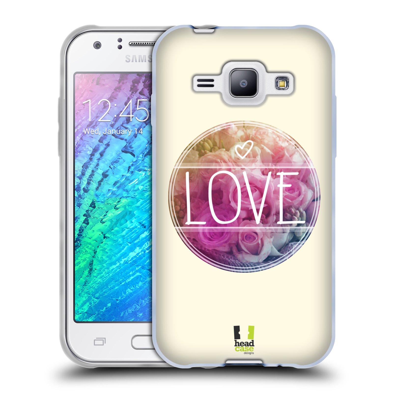 Silikonové pouzdro na mobil Samsung Galaxy J1 HEAD CASE INSPIRACE V KRUHU LÁSKA (Silikonový kryt či obal na mobilní telefon Samsung Galaxy J1 a J1 Duos)