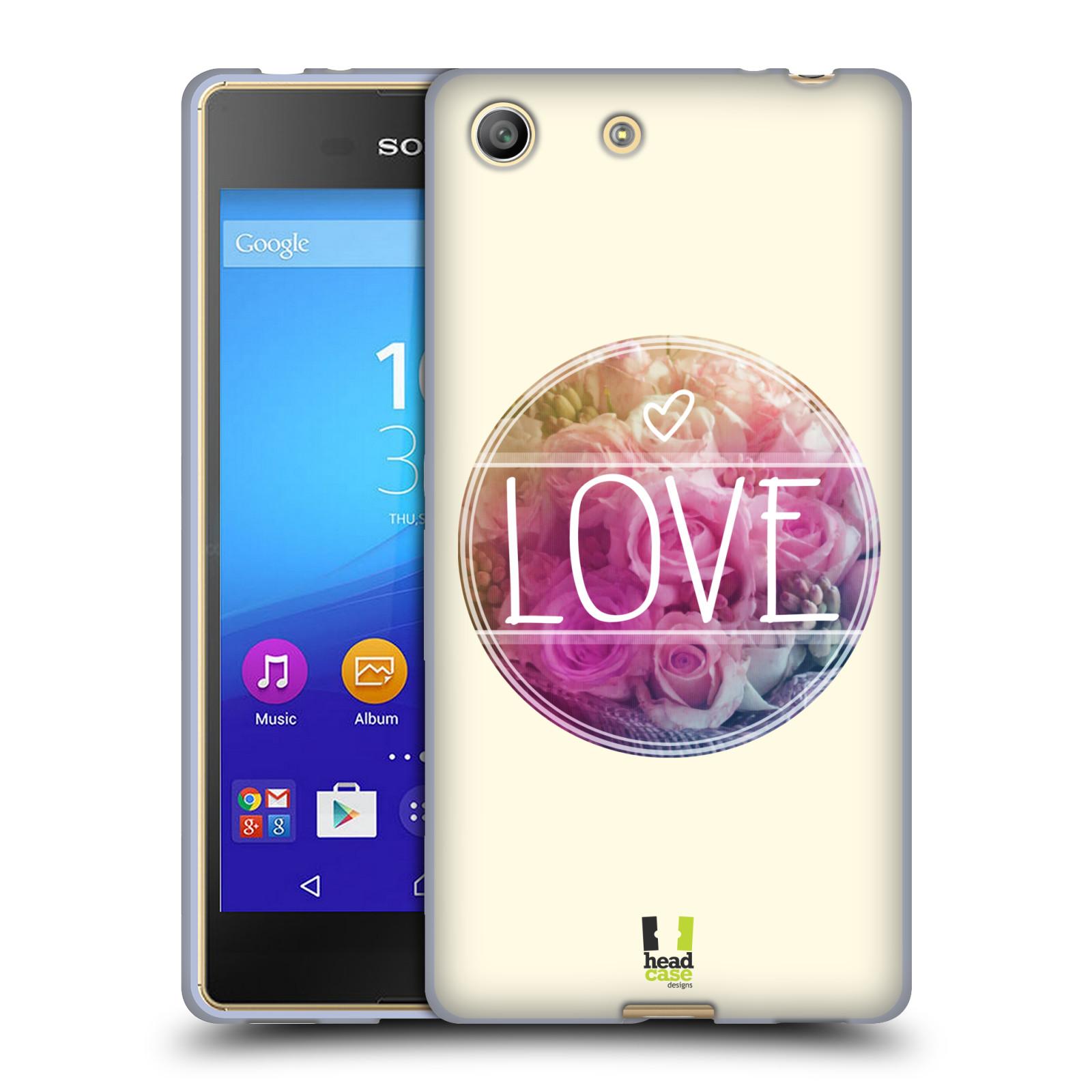 Silikonové pouzdro na mobil Sony Xperia M5 HEAD CASE INSPIRACE V KRUHU LÁSKA (Silikonový kryt či obal na mobilní telefon Sony Xperia M5 Dual SIM / Aqua)