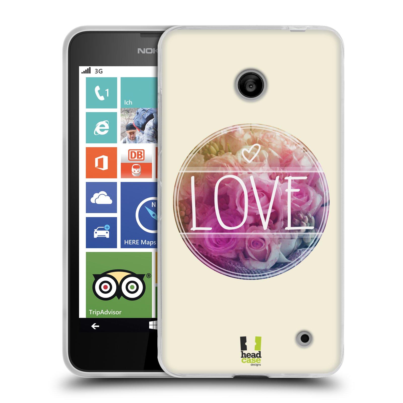 Silikonové pouzdro na mobil Nokia Lumia 635 HEAD CASE INSPIRACE V KRUHU LÁSKA (Silikonový kryt či obal na mobilní telefon Nokia Lumia 635 Dual SIM)