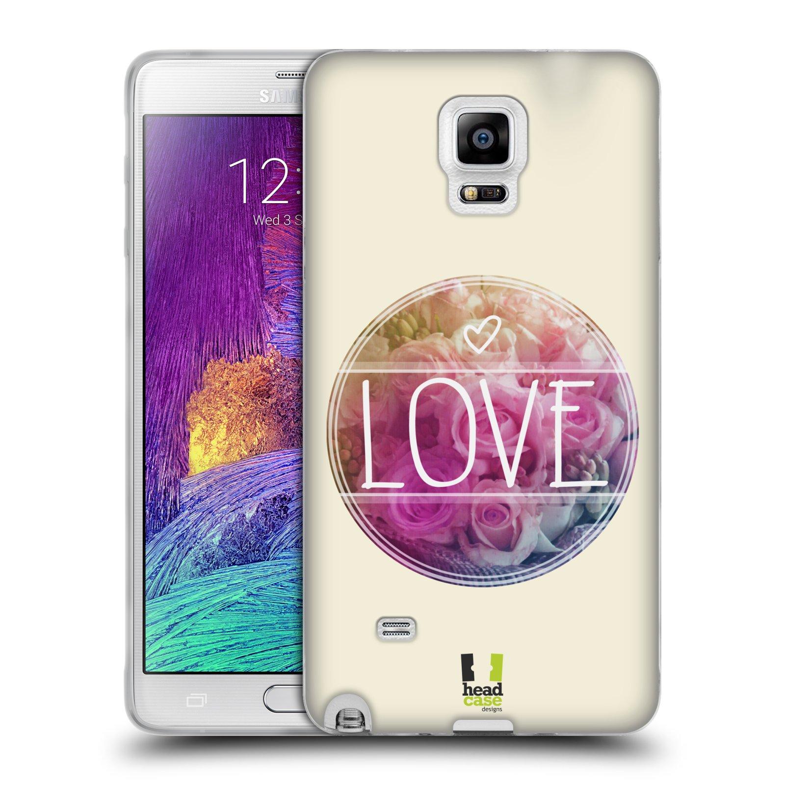 Silikonové pouzdro na mobil Samsung Galaxy Note 4 HEAD CASE INSPIRACE V KRUHU LÁSKA (Silikonový kryt či obal na mobilní telefon Samsung Galaxy Note 4 SM-N910F)