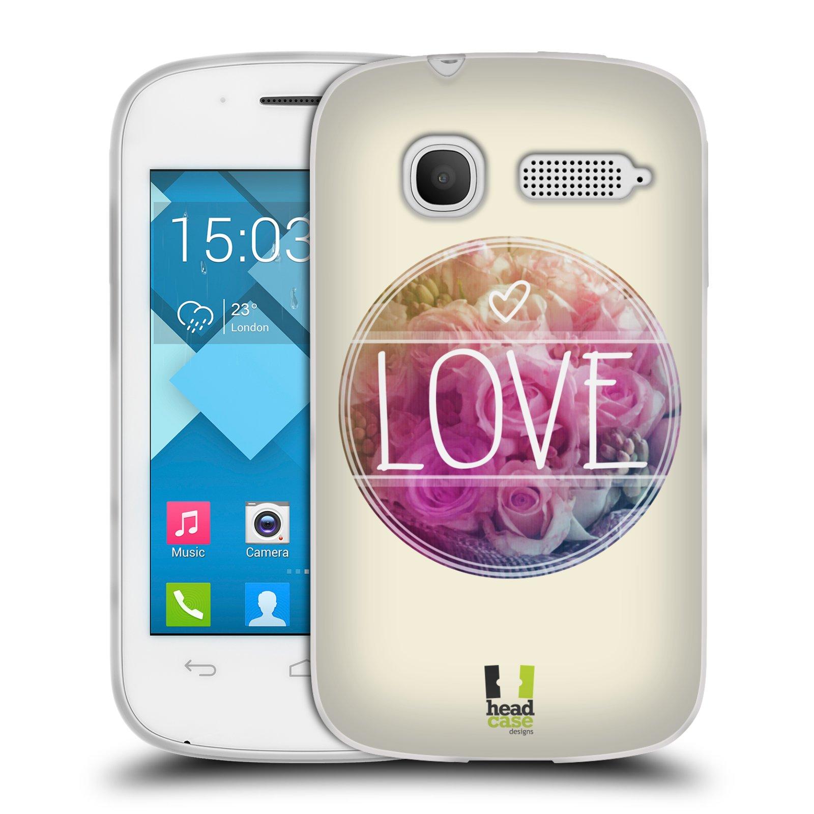Silikonové pouzdro na mobil Alcatel One Touch Pop C1 HEAD CASE INSPIRACE V KRUHU LÁSKA (Silikonový kryt či obal na mobilní telefon Alcatel OT-4015D POP C1)