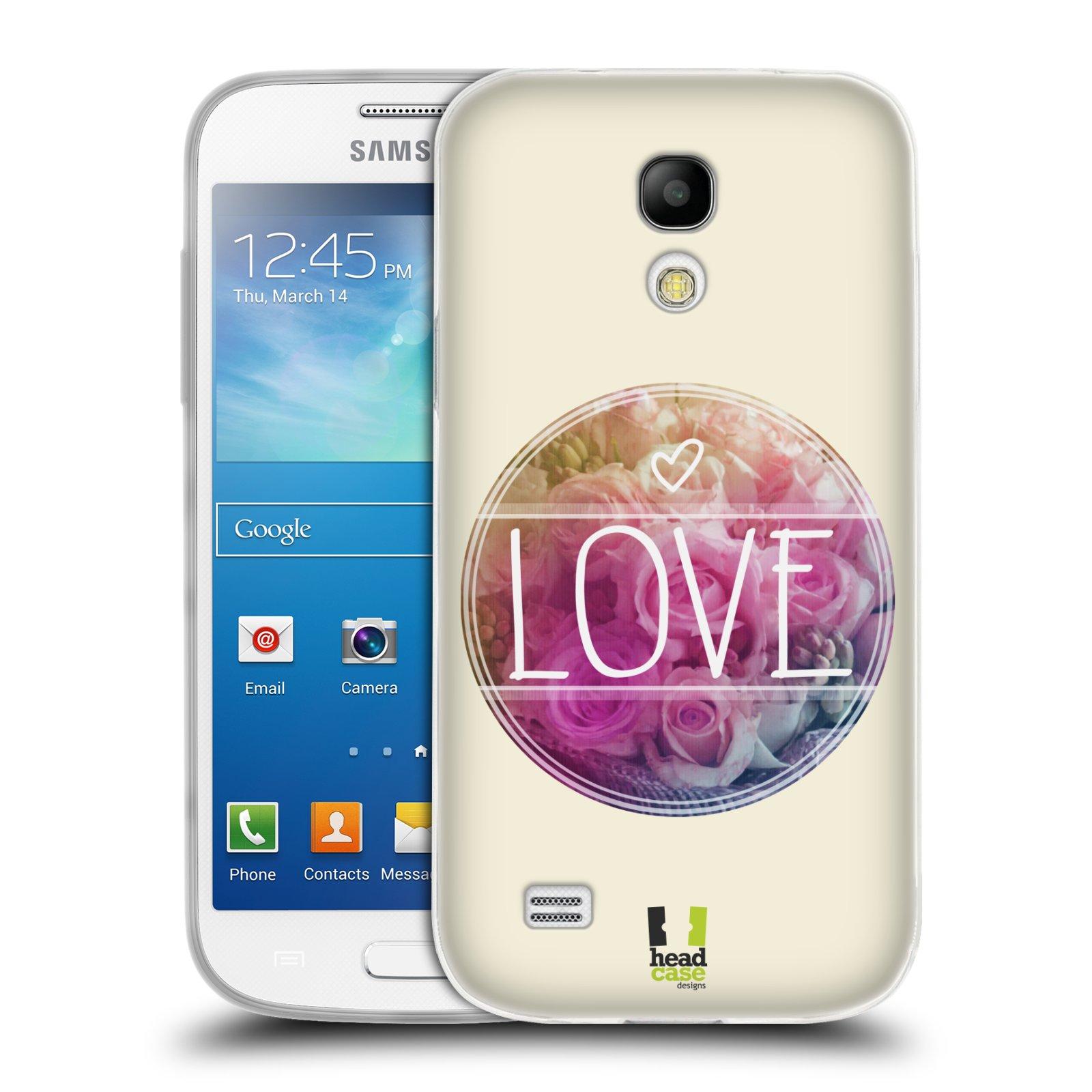 Silikonové pouzdro na mobil Samsung Galaxy S4 Mini HEAD CASE INSPIRACE V KRUHU LÁSKA (Silikonový kryt či obal na mobilní telefon Samsung Galaxy S4 Mini GT-i9195 / i9190 (nepasuje na verzi Black Edition))