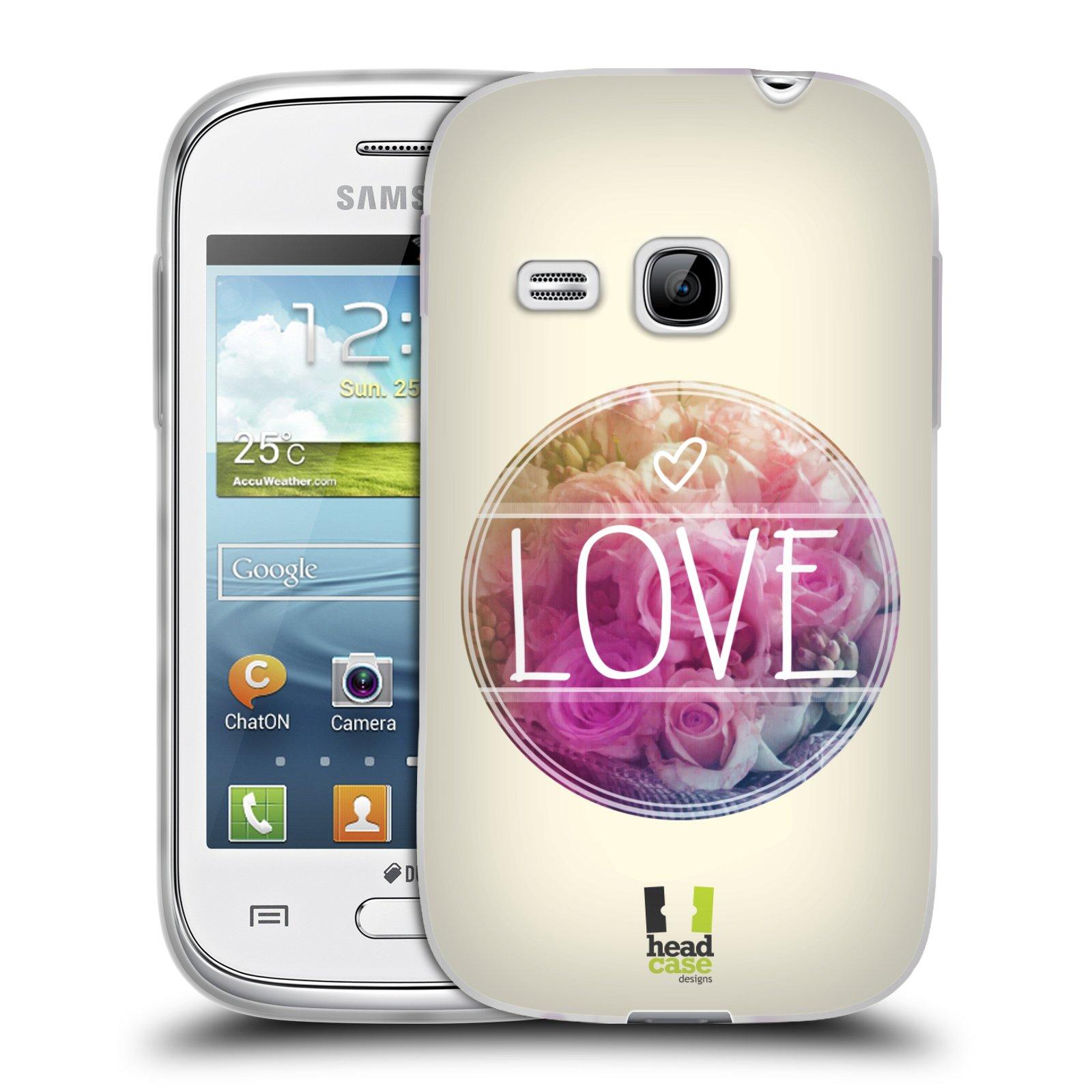 Silikonové pouzdro na mobil Samsung Galaxy Young HEAD CASE INSPIRACE V KRUHU LÁSKA (Silikonový kryt či obal na mobilní telefon Samsung Galaxy Young GT-S6310)