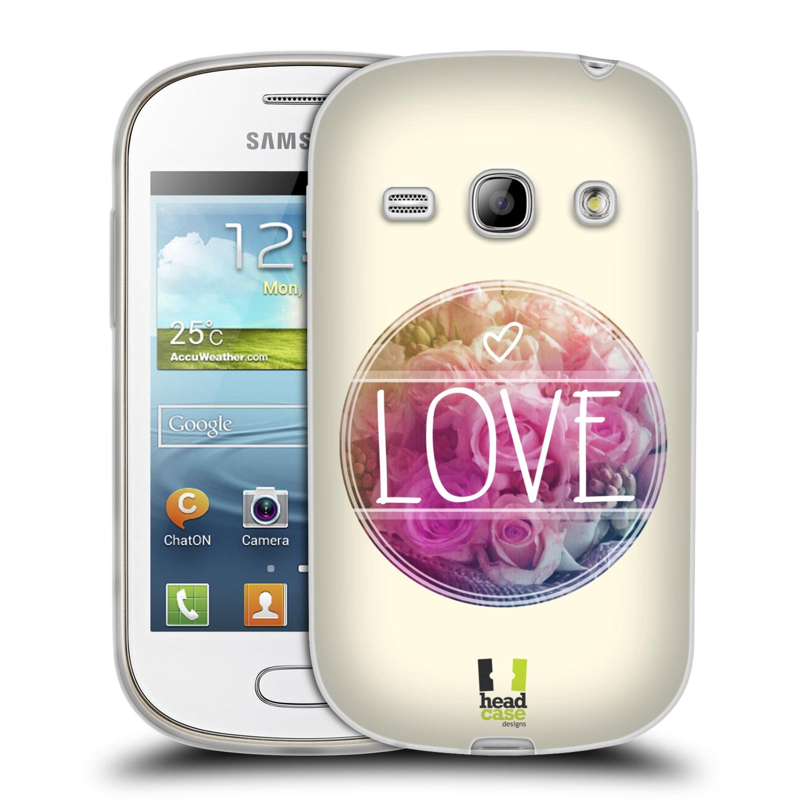 Silikonové pouzdro na mobil Samsung Galaxy Fame HEAD CASE INSPIRACE V KRUHU LÁSKA (Silikonový kryt či obal na mobilní telefon Samsung Galaxy Fame GT-S6810)