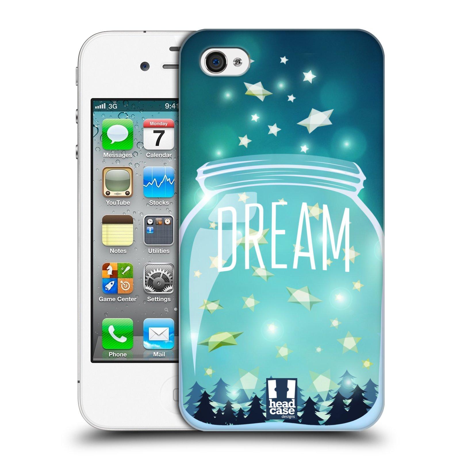 Plastové pouzdro na mobil Apple iPhone 4 a 4S HEAD CASE SKLENICE DREAM