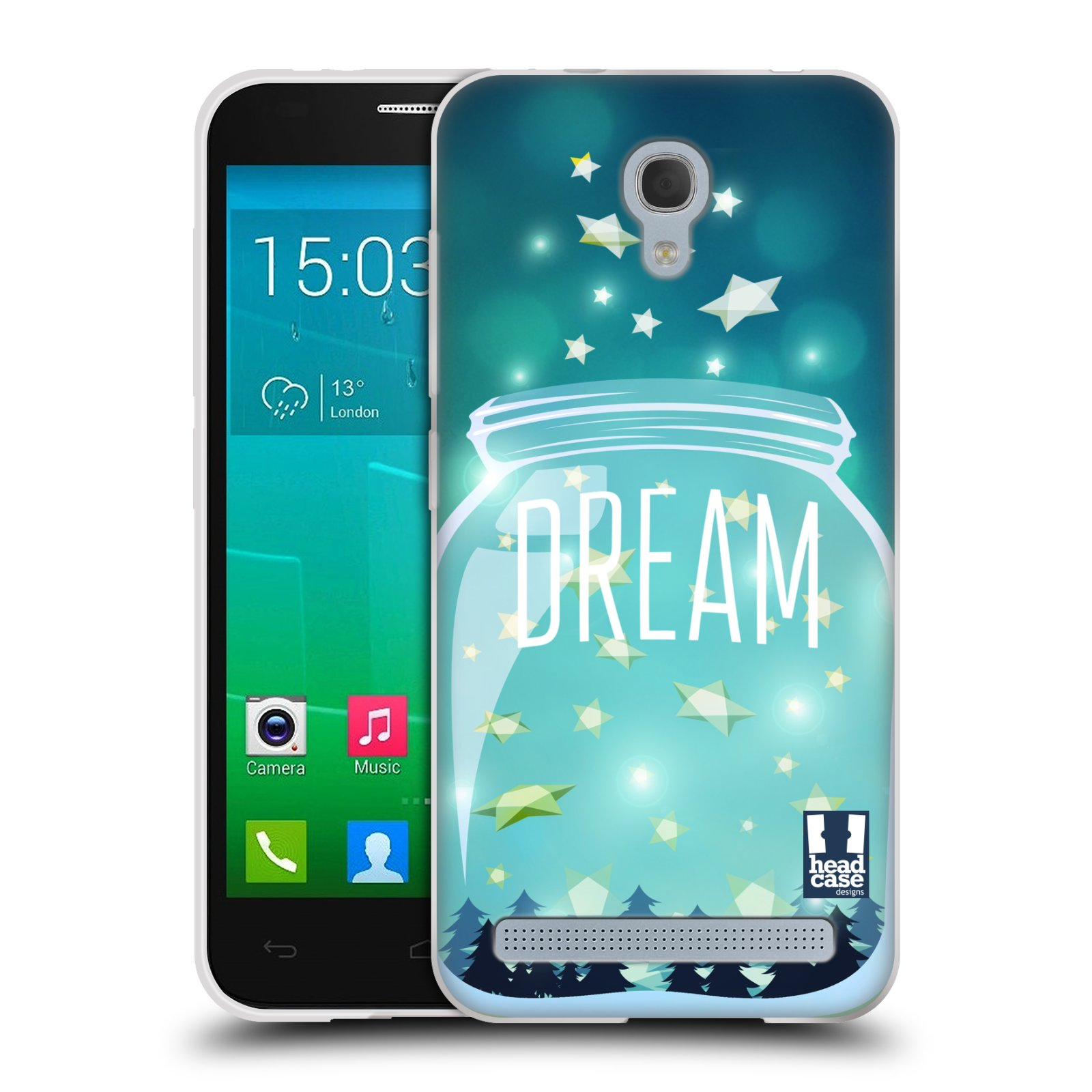 Silikonové pouzdro na mobil Alcatel One Touch Idol 2 Mini S 6036Y HEAD CASE SKLENICE DREAM