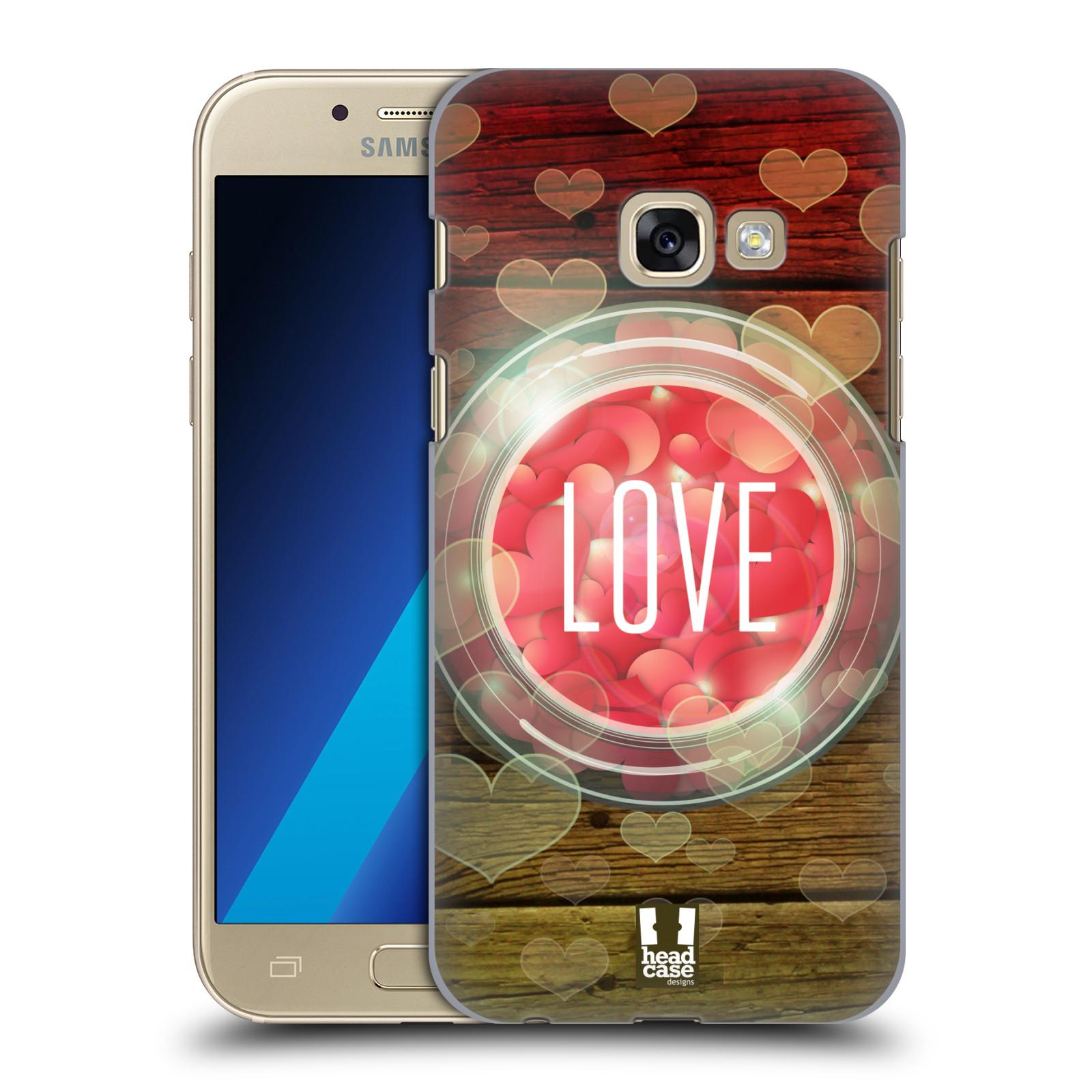 Plastové pouzdro na mobil Samsung Galaxy A3 (2017) HEAD CASE SKLENICE LOVE