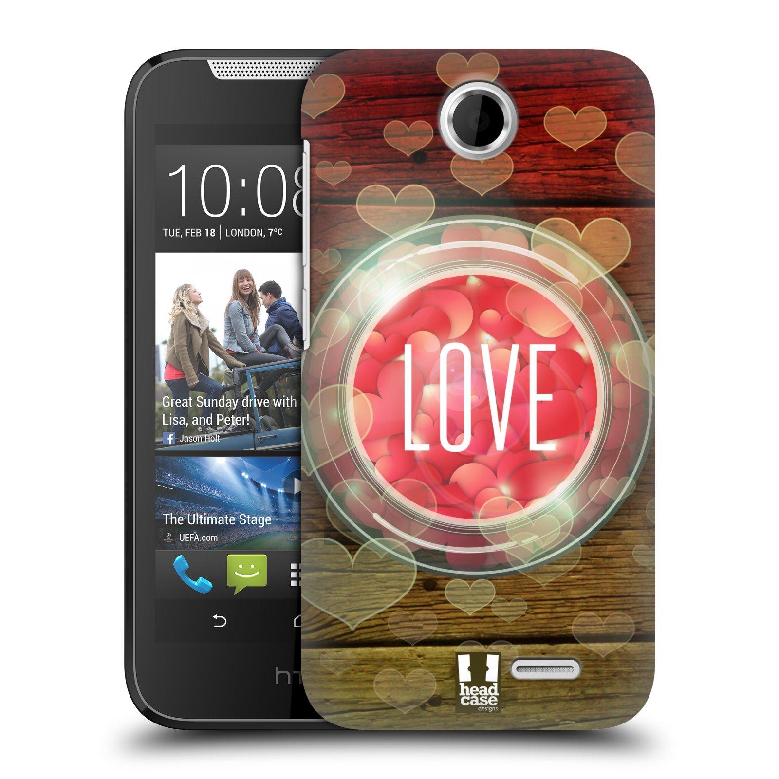 Plastové pouzdro na mobil HTC Desire 310 HEAD CASE SKLENICE LOVE (Kryt či obal na mobilní telefon HTC Desire 310)