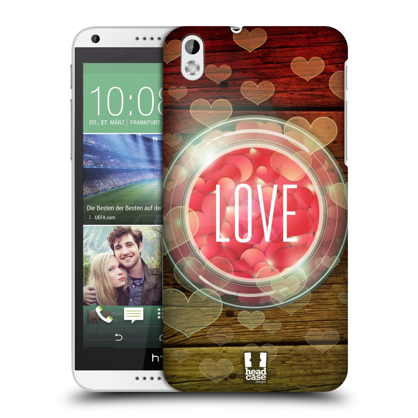 Plastové pouzdro na mobil HTC Desire 816 HEAD CASE SKLENICE LOVE (Kryt či obal na mobilní telefon HTC Desire 816)