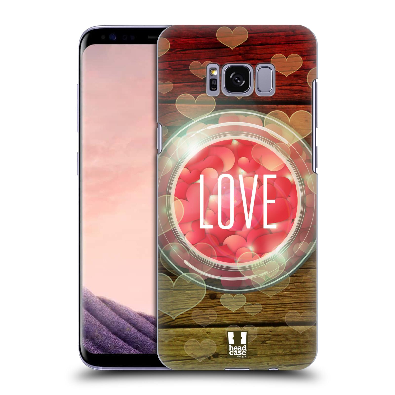 Plastové pouzdro na mobil Samsung Galaxy S8 Head Case SKLENICE LOVE