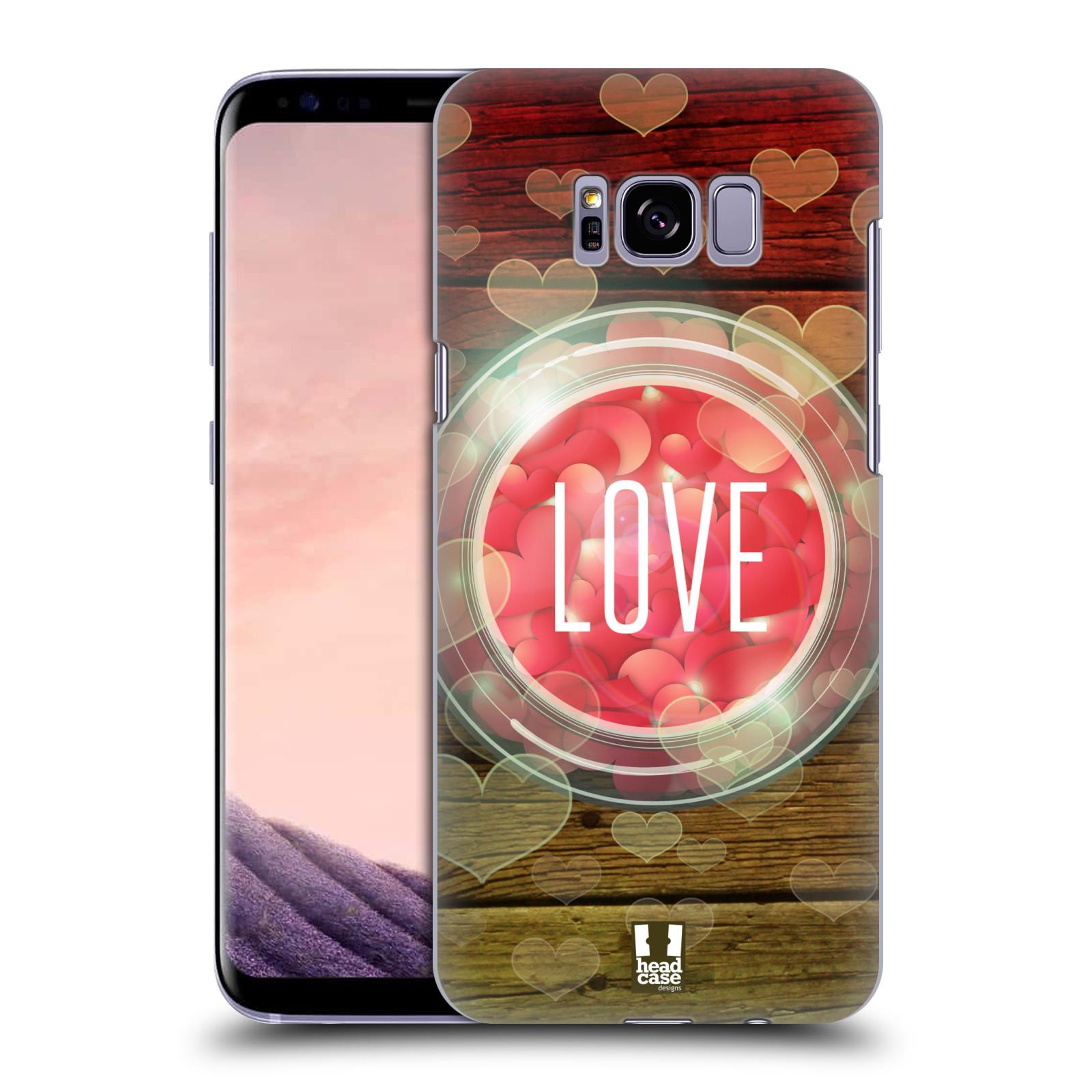 Plastové pouzdro na mobil Samsung Galaxy S8+ (Plus) Head Case SKLENICE LOVE