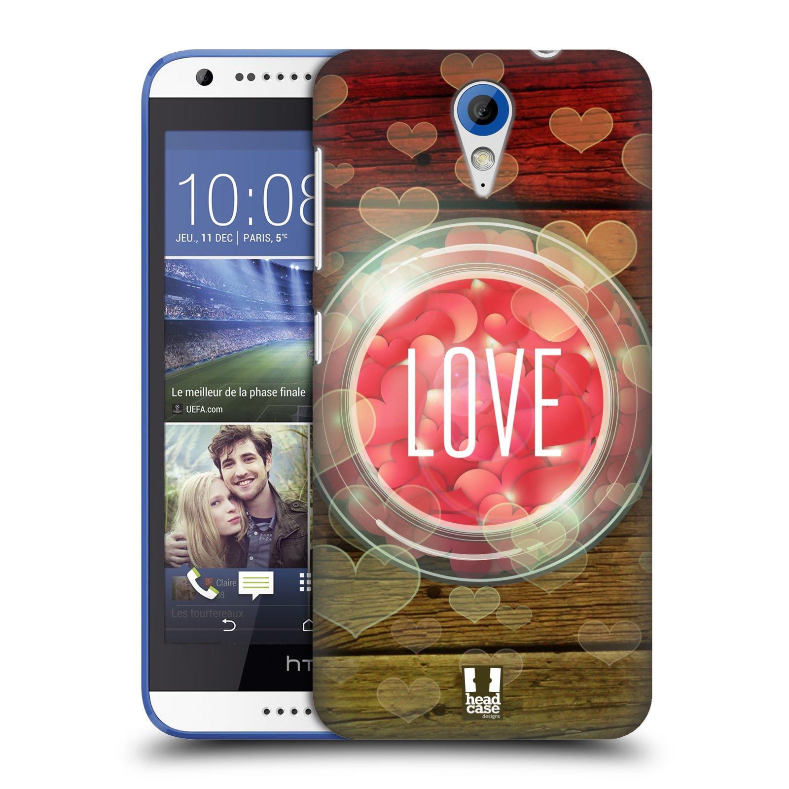 Plastové pouzdro na mobil HTC Desire 620 HEAD CASE SKLENICE LOVE (Kryt či obal na mobilní telefon HTC Desire 620)