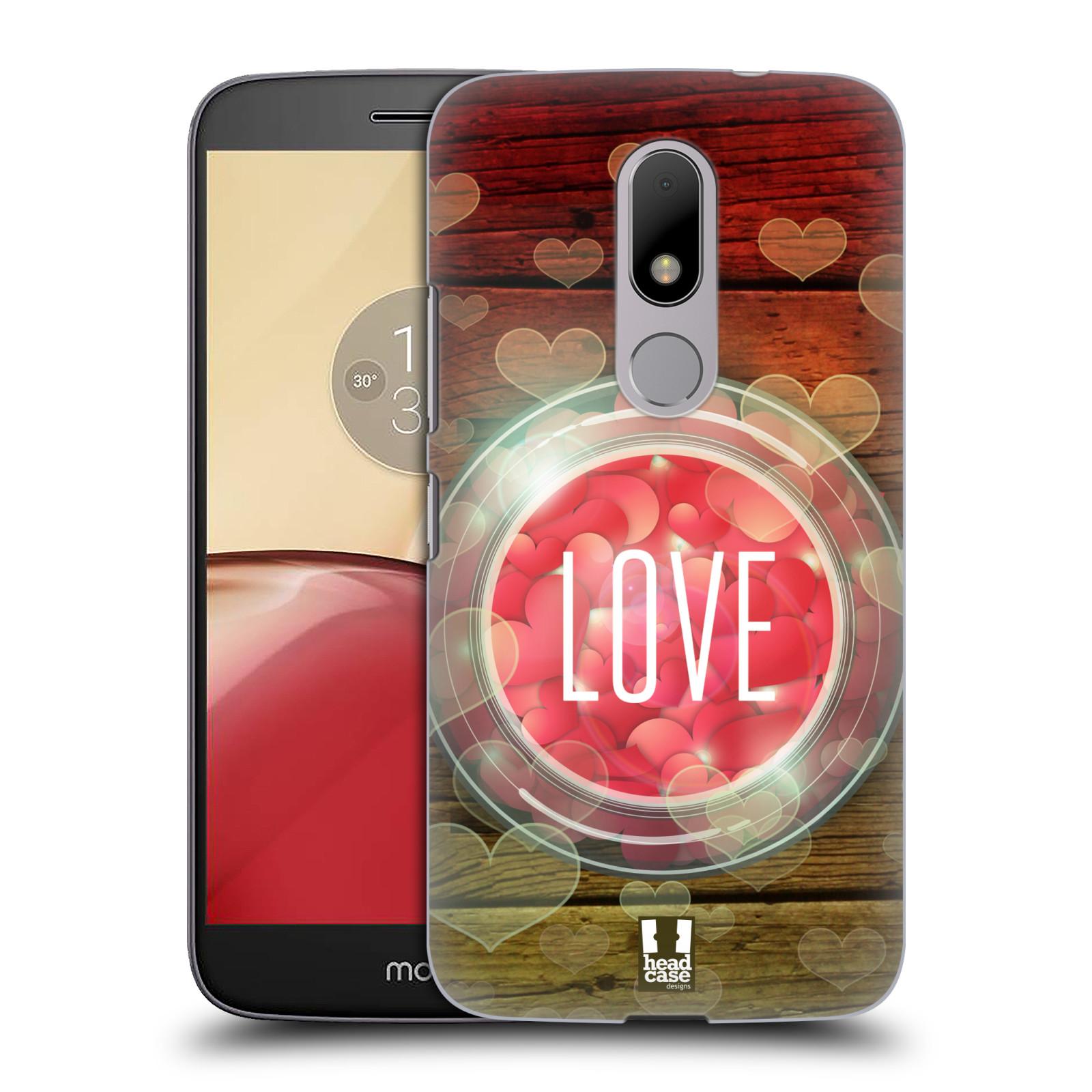 Plastové pouzdro na mobil Lenovo Moto M HEAD CASE SKLENICE LOVE
